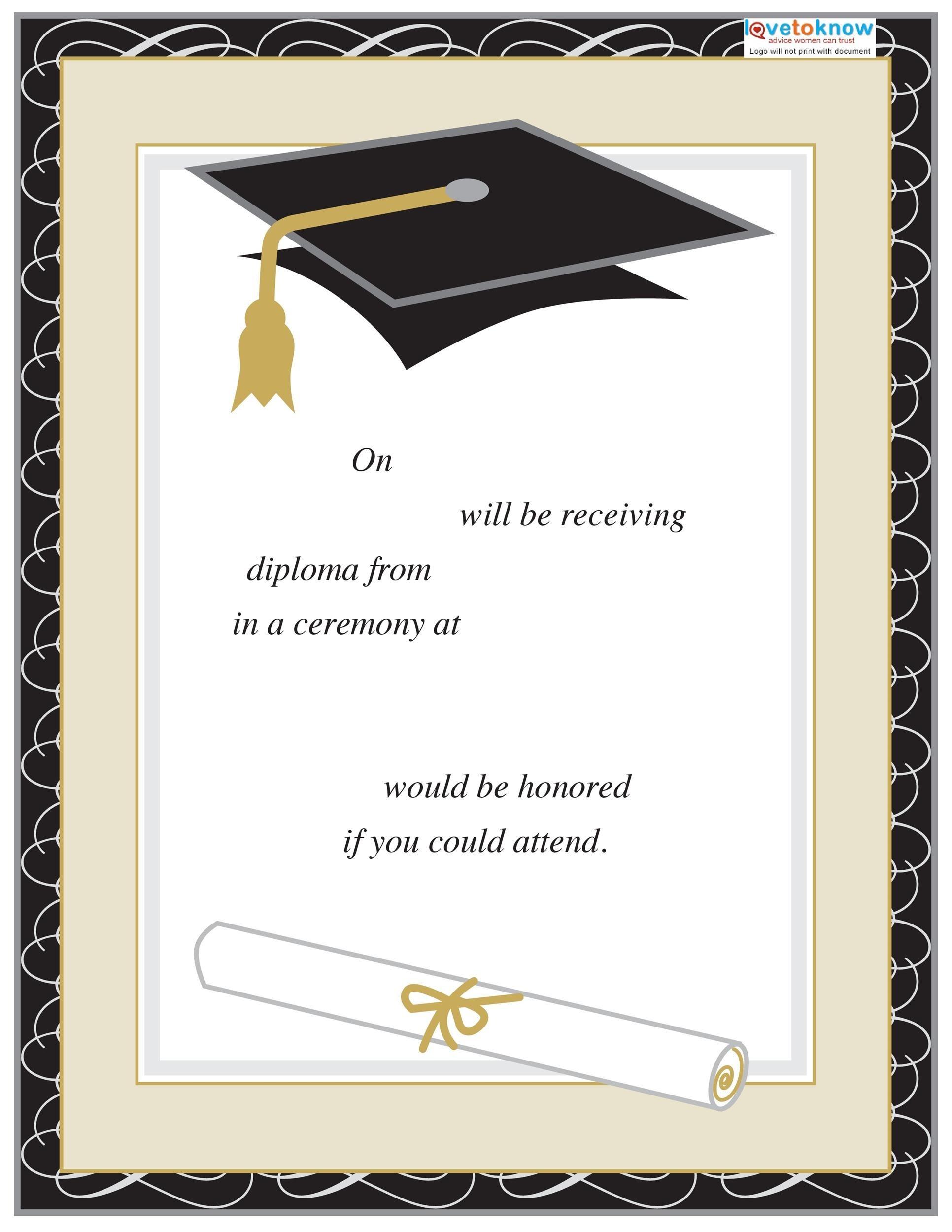 high school graduation program template
