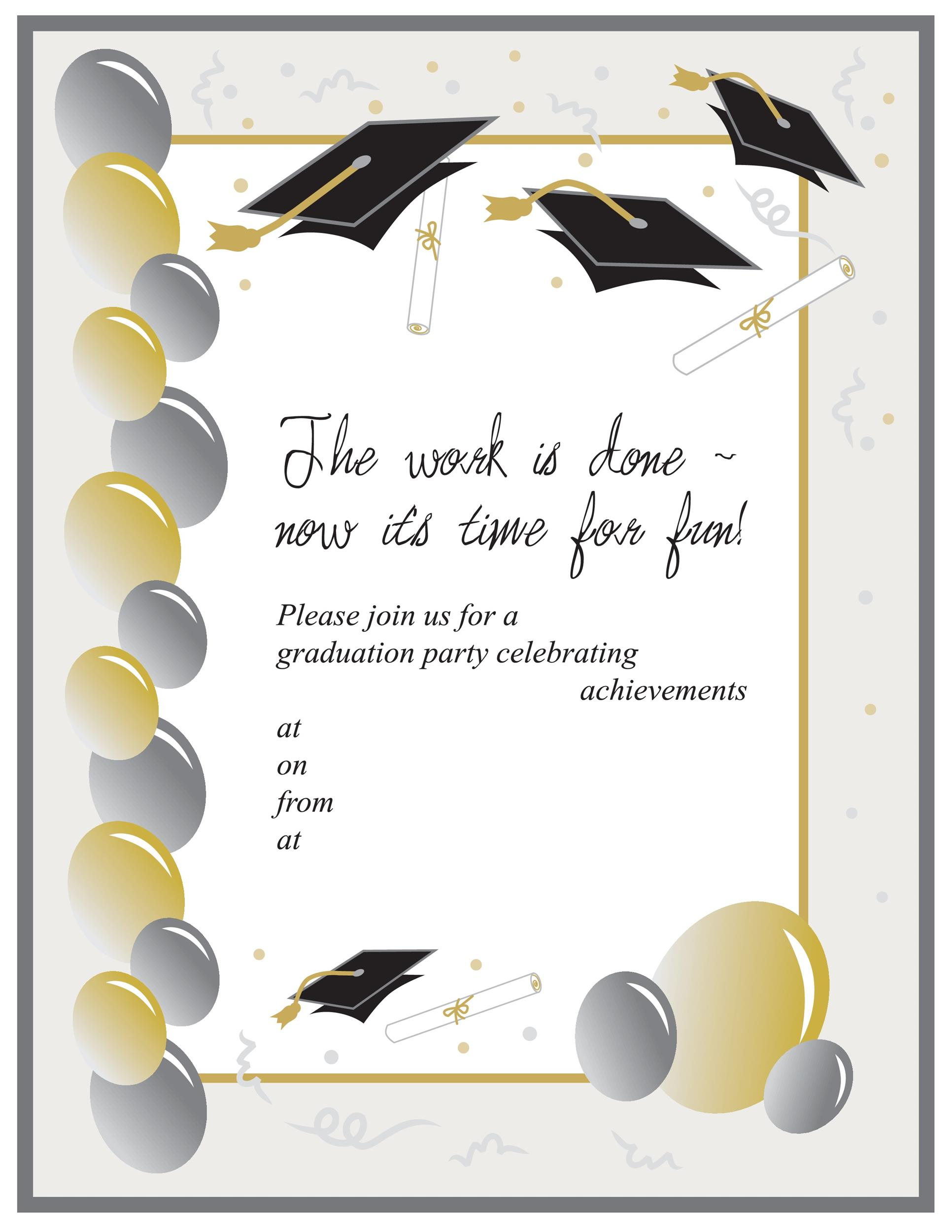 graduation invite templates