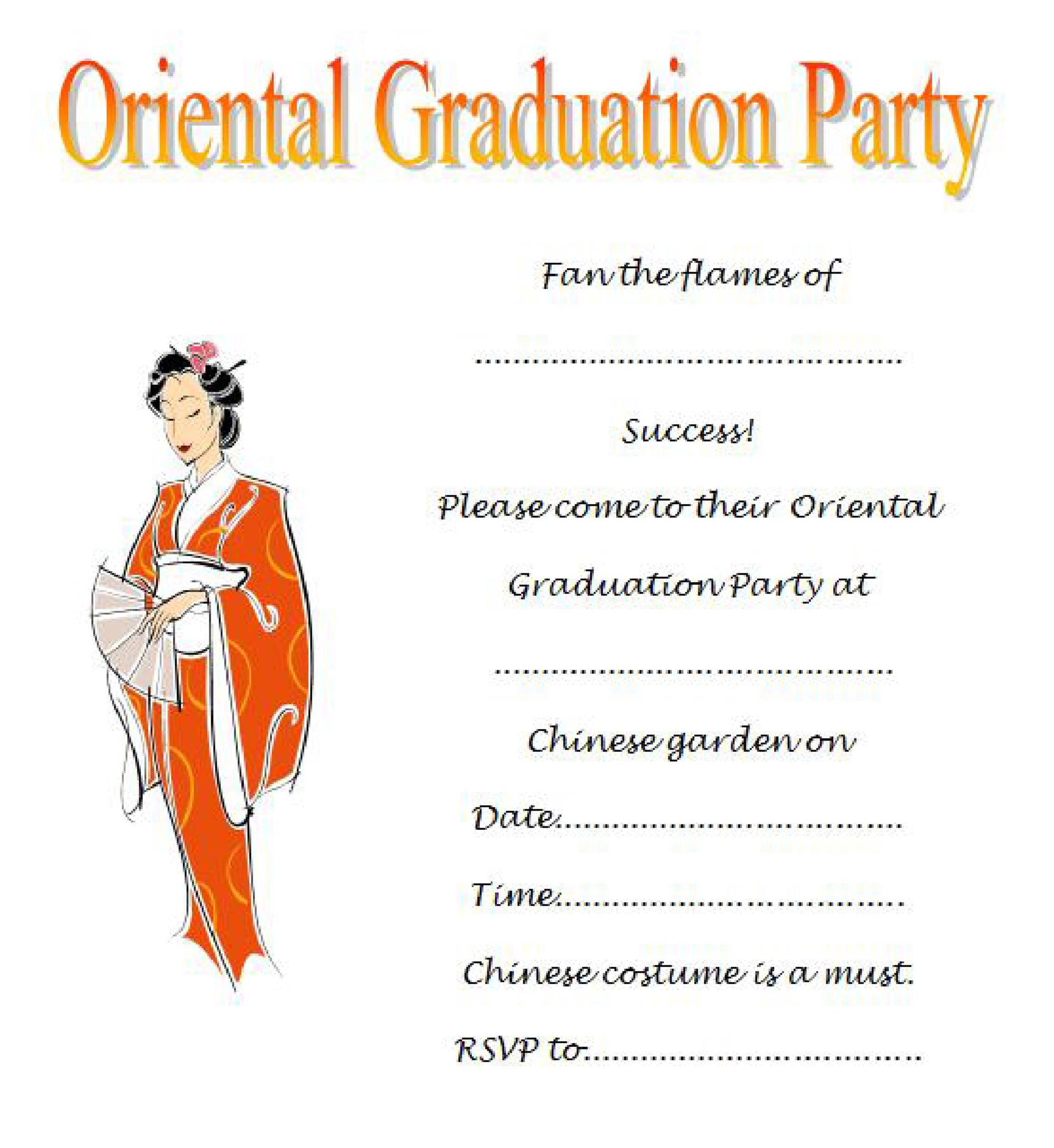 Sample Of Invitation Letter For Graduation Party Wedding