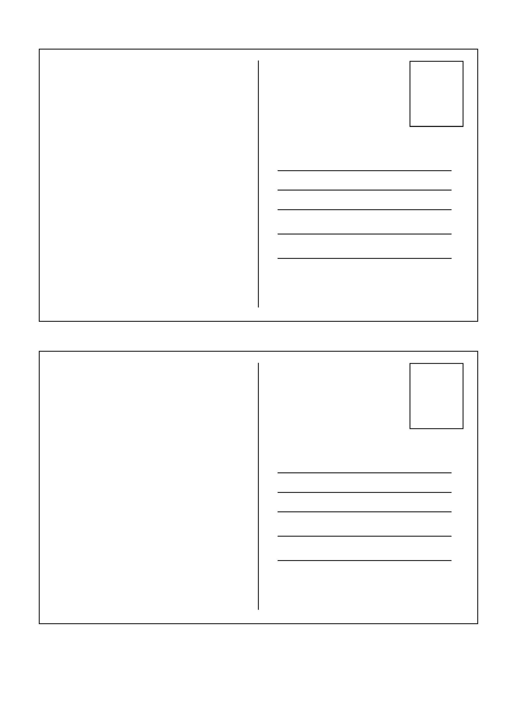 blank postcard template word