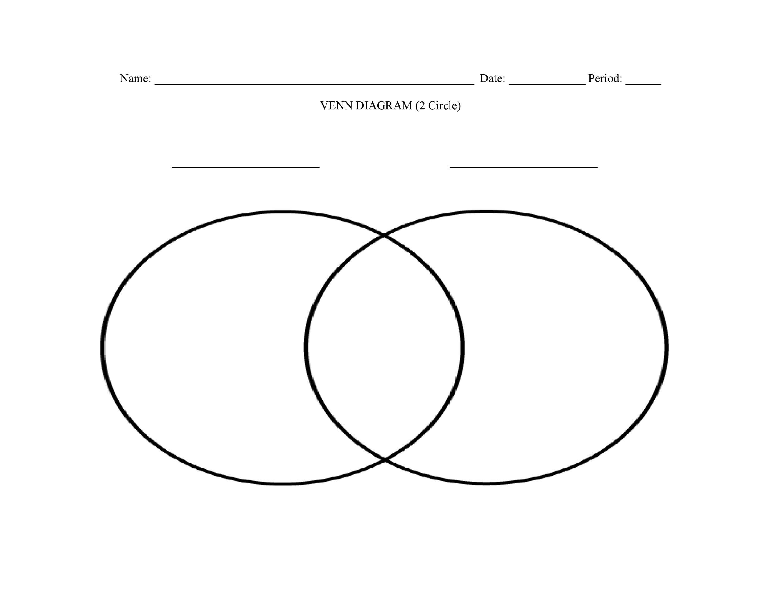 Printable Venn Diagram Free