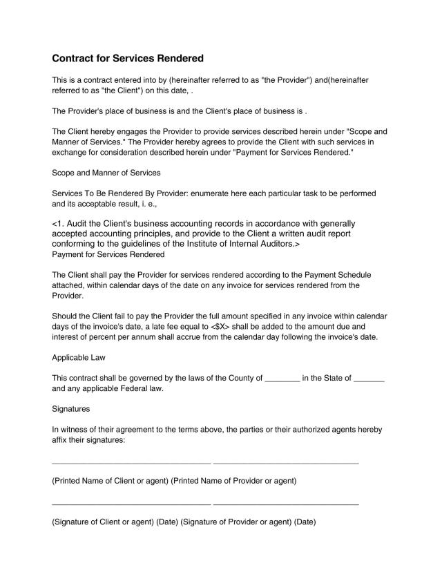 27 Great Contract Templates (Employment, Construction, Photography