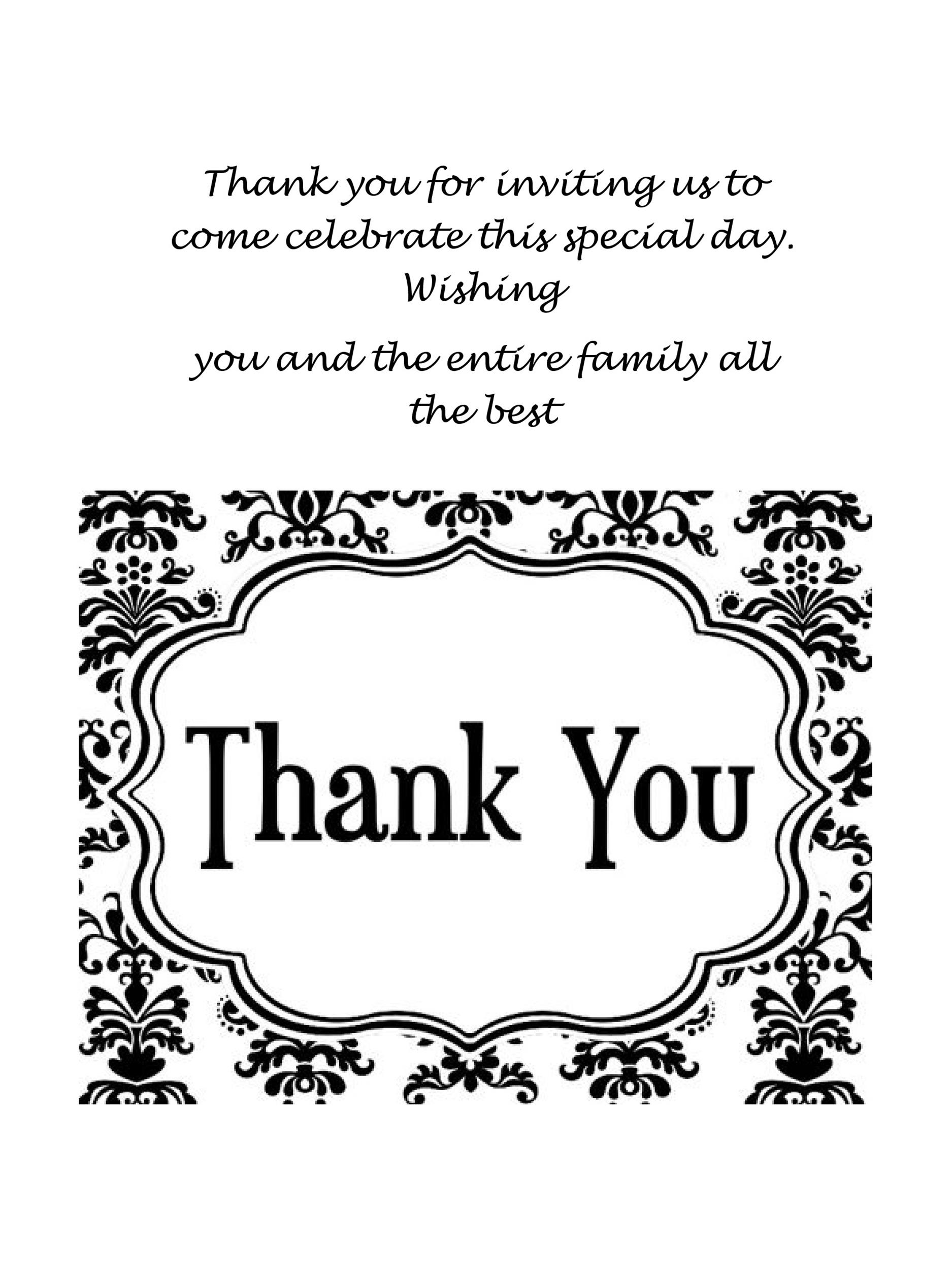 30+ Free Printable Thank You Card Templates (Wedding