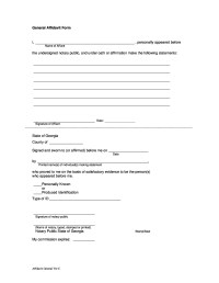 48 Sample Affidavit Forms & Templates (Affidavit of ...