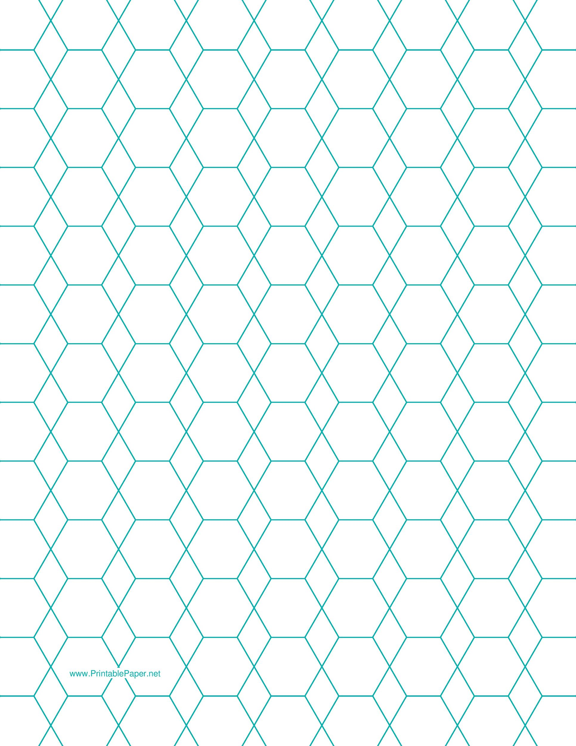 Hexagon Graph Paper Download .
