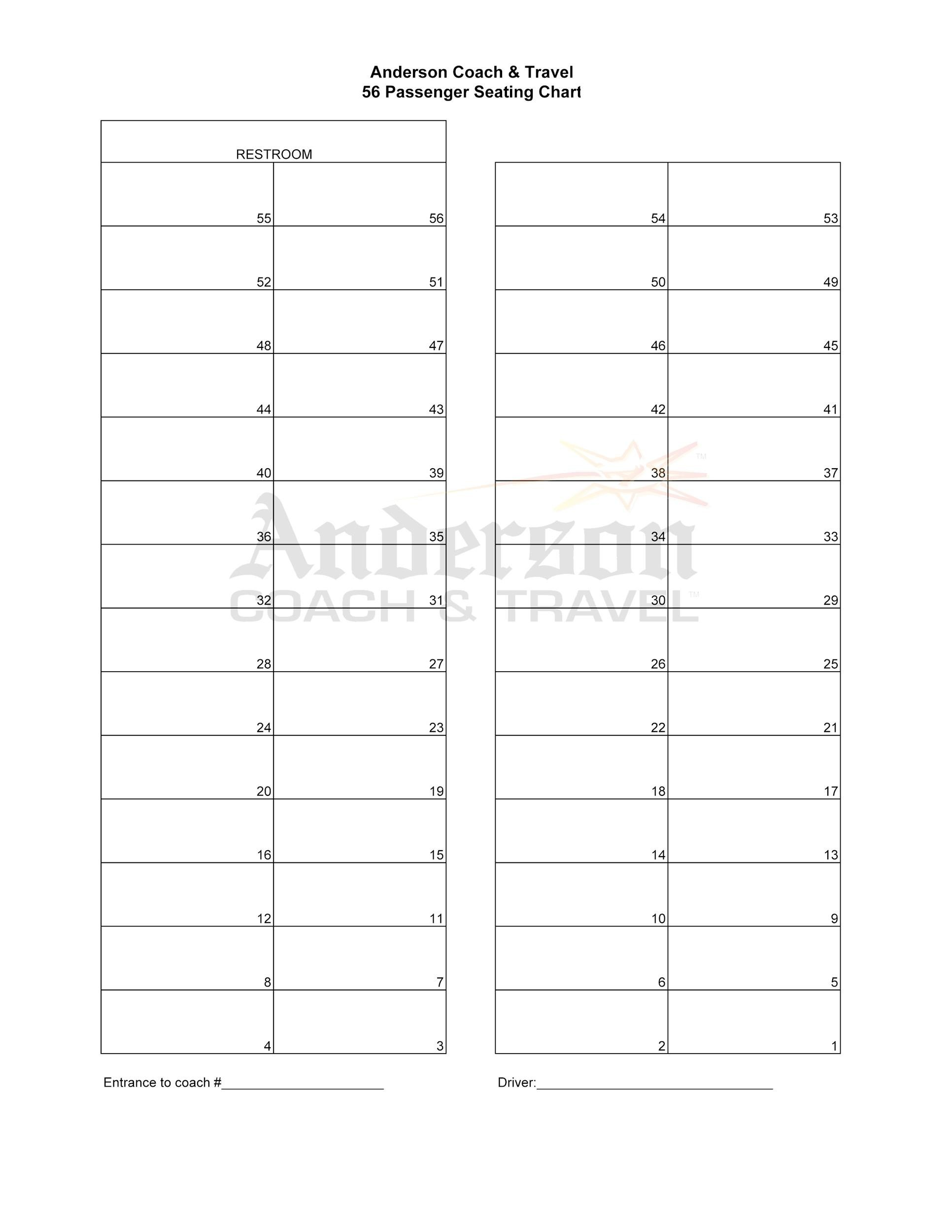 wedding chart template