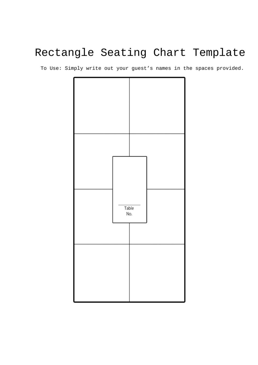 medium resolution of free seating chart template 07