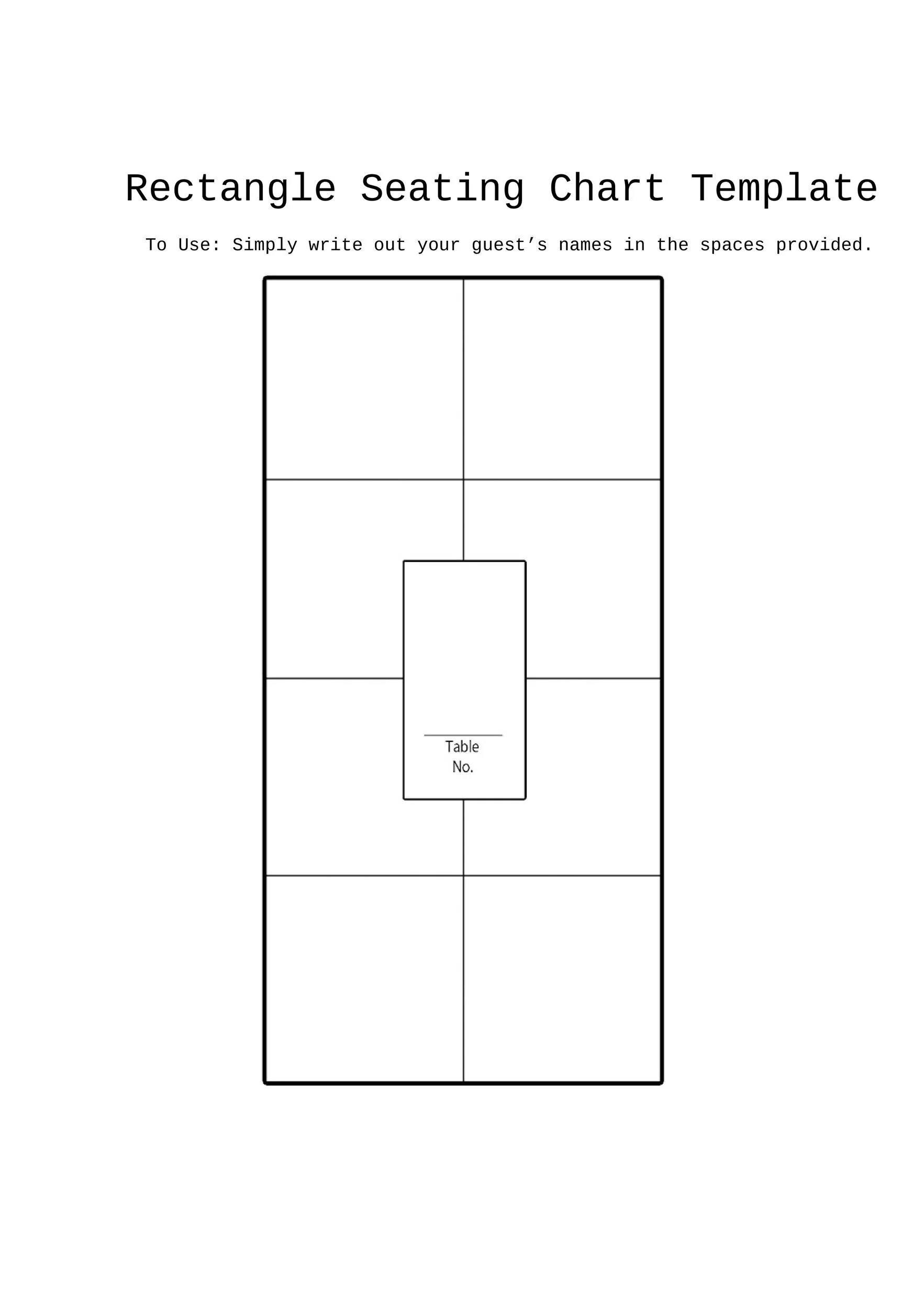 hight resolution of free seating chart template 07