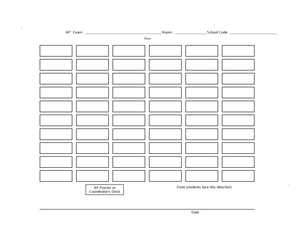 hight resolution of free seating chart template 19