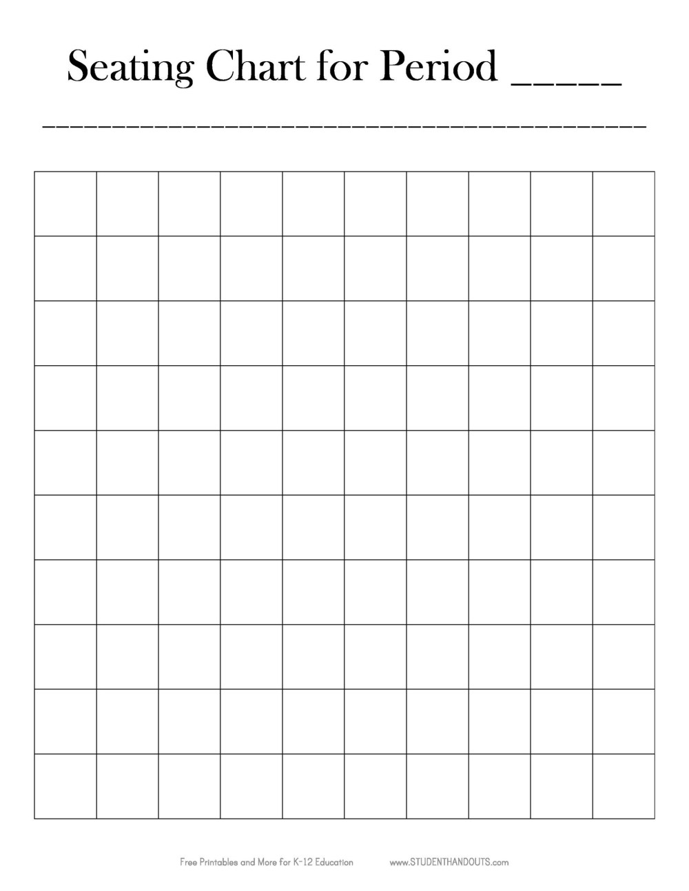 medium resolution of free seating chart template 23