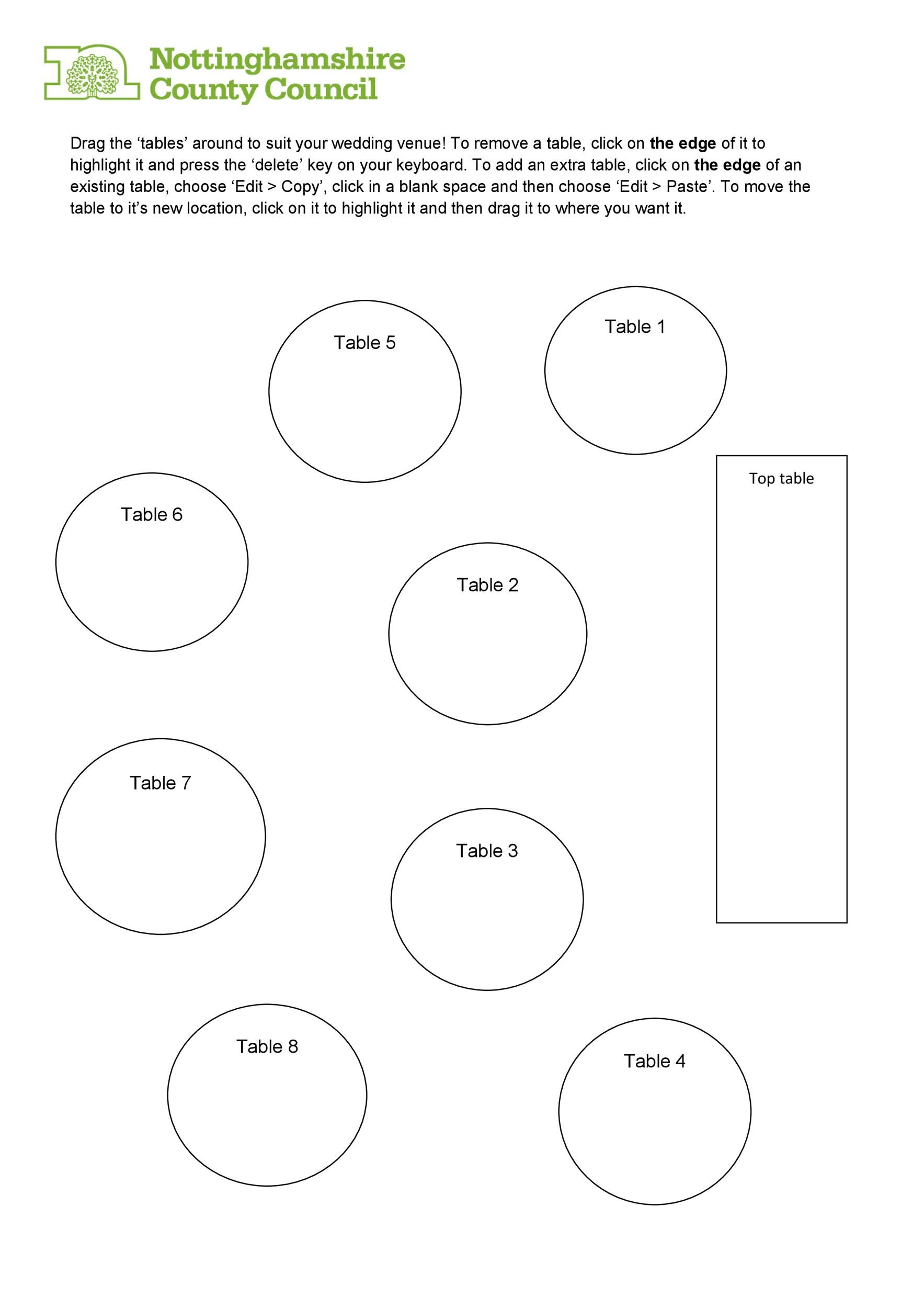 hight resolution of free seating chart template 28