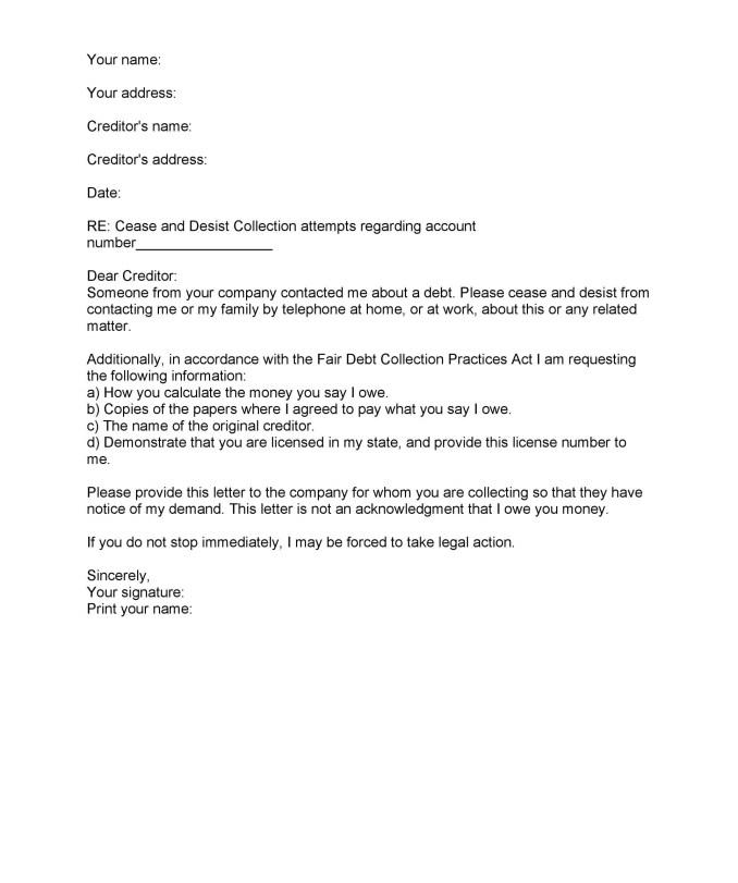 Best cease and desist letter template for debt collectors images cease and desist letter sample debt collectors newsinvitation co spiritdancerdesigns Gallery