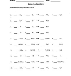Balanced Equations Worksheet Balancing Act   Printable Worksheets and  Activities for Teachers [ 2500 x 1932 Pixel ]