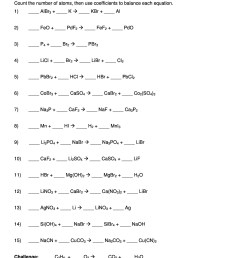 49 Balancing Chemical Equations Worksheets with Answers [ 2500 x 1932 Pixel ]