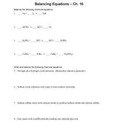 Balancing Chemical Equations Worksheet 7th Grade   Printable Worksheets and  Activities for Teachers [ 2500 x 1932 Pixel ]