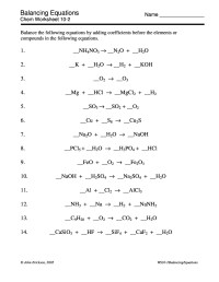 Chemistry Equations Sheet - Tessshebaylo