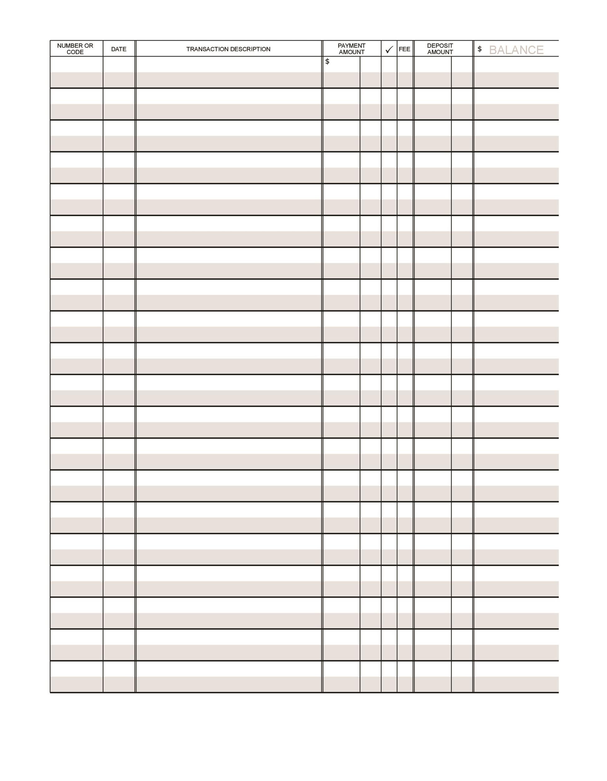 downloadable checkbook registers