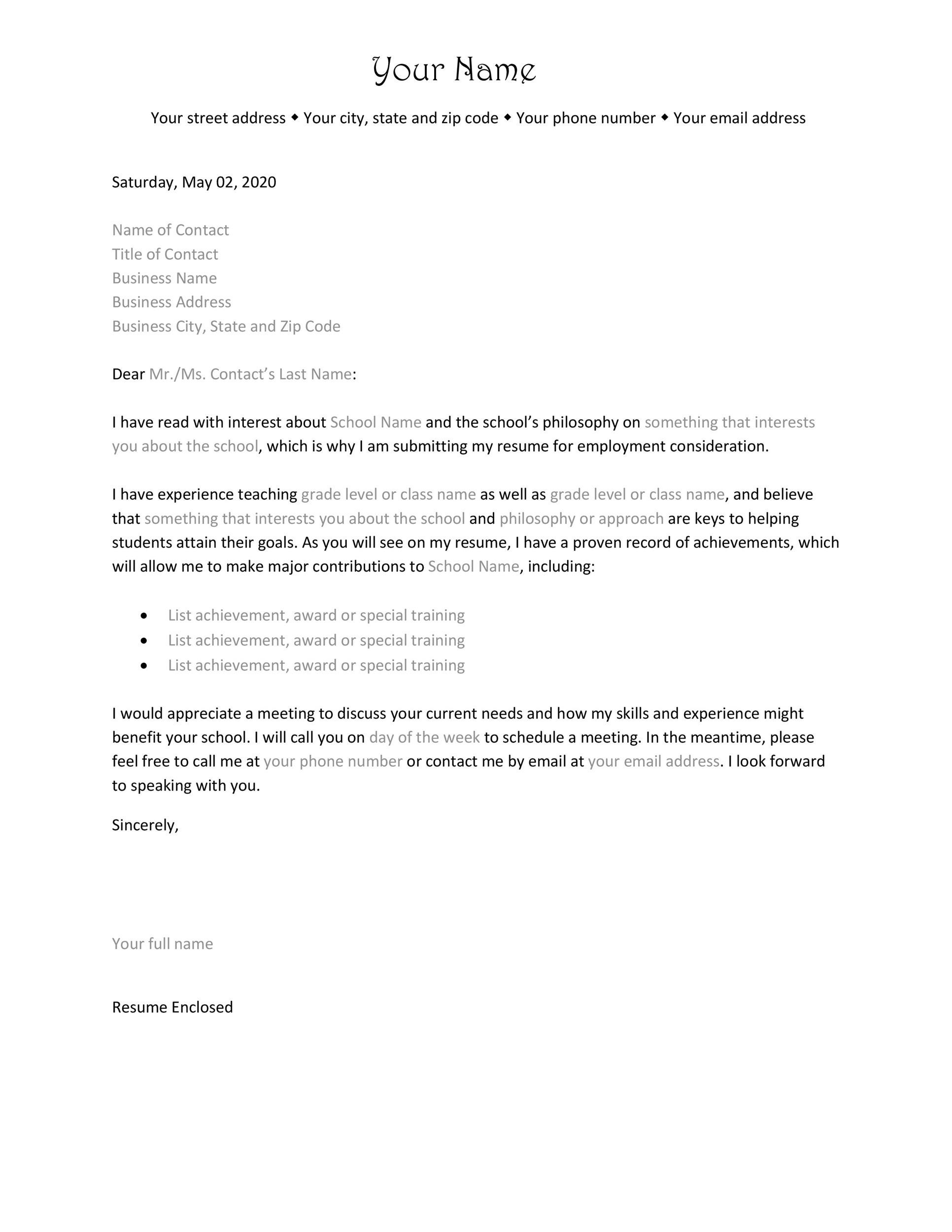 Sample Job Application Cover Letters 30 Amazing Letter Of Interest Samples Templates