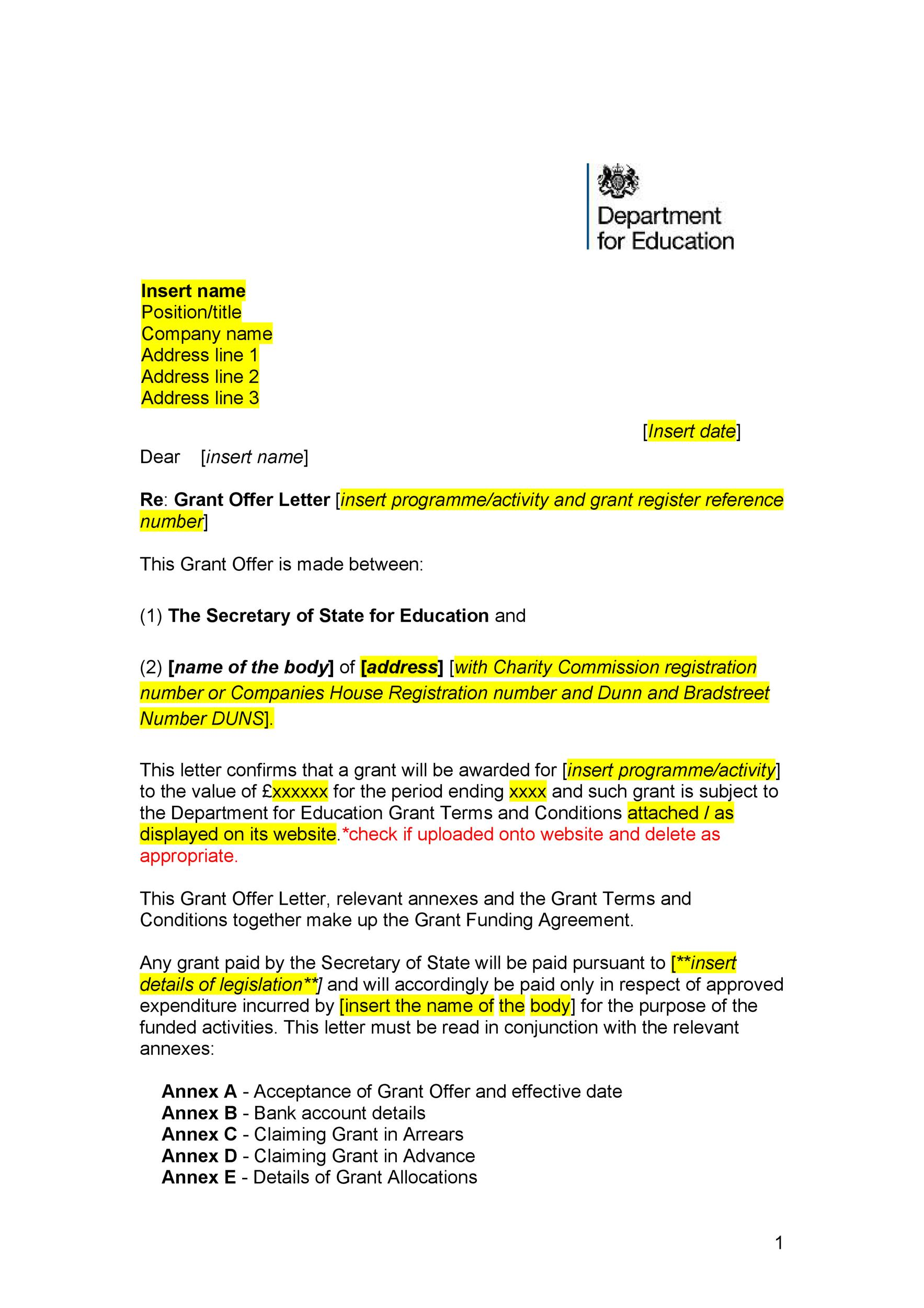 44 Fantastic Offer Letter Templates Employment Counter