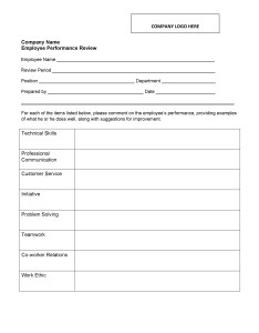 Free performance review examples also employee evaluation forms  rh templatelab