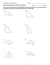 Pythagorean Theorem Worksheets Kuta Math. Pythagorean ...