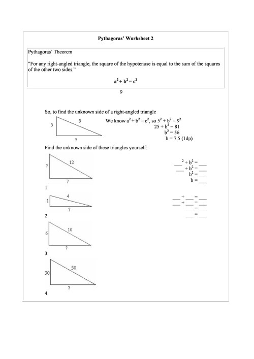 small resolution of Pythagorean Theorem Maze Worksheet   Printable Worksheets and Activities  for Teachers