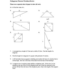 48 Pythagorean Theorem Worksheet with Answers Word + PDF [ 2500 x 1932 Pixel ]