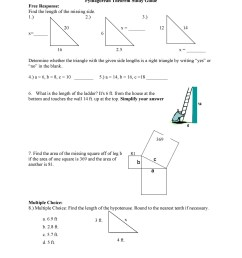 Pythagorean Theorem Word Problems Worksheet   Printable Worksheets and  Activities for Teachers [ 2500 x 1932 Pixel ]