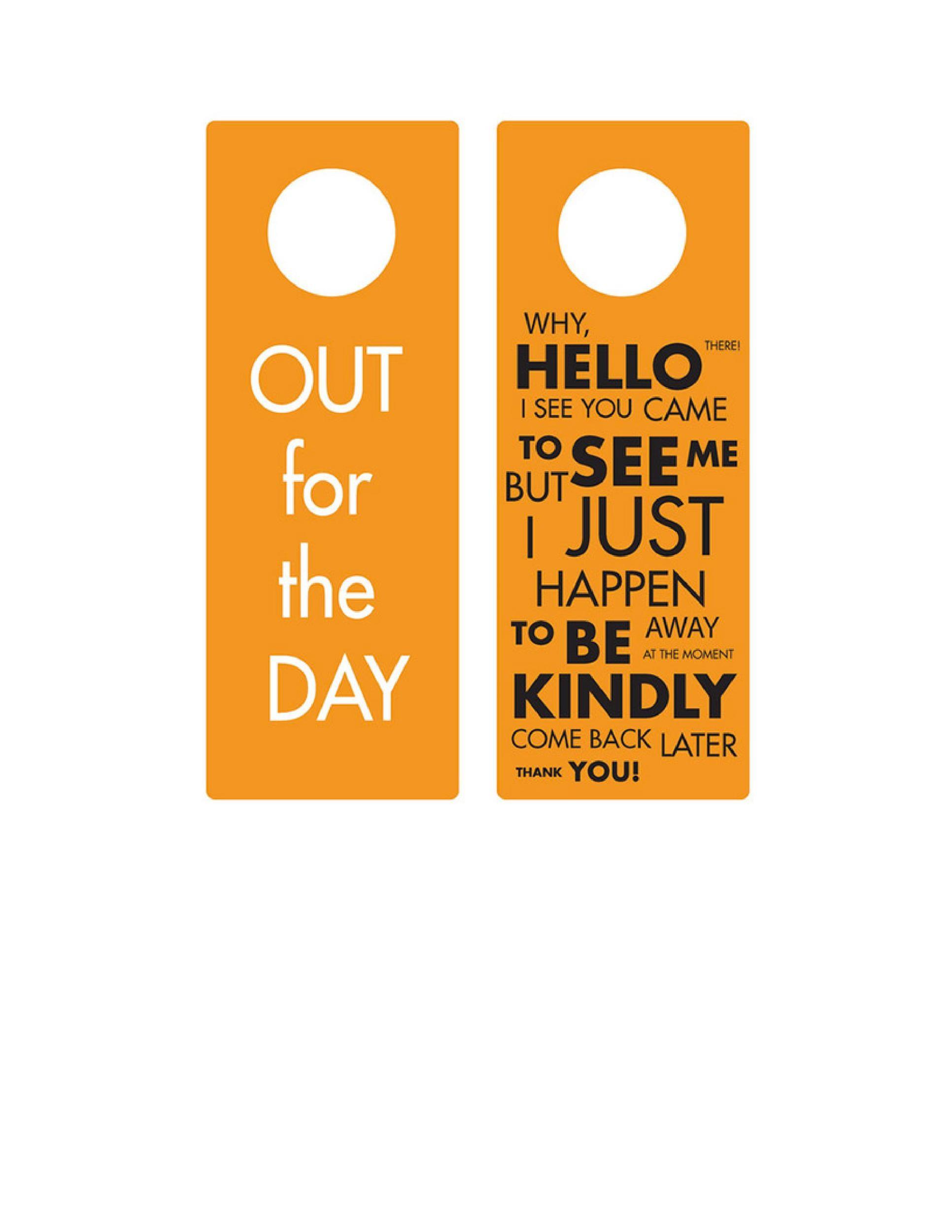 43 Free Door Hanger Templates Word PDF Template Lab