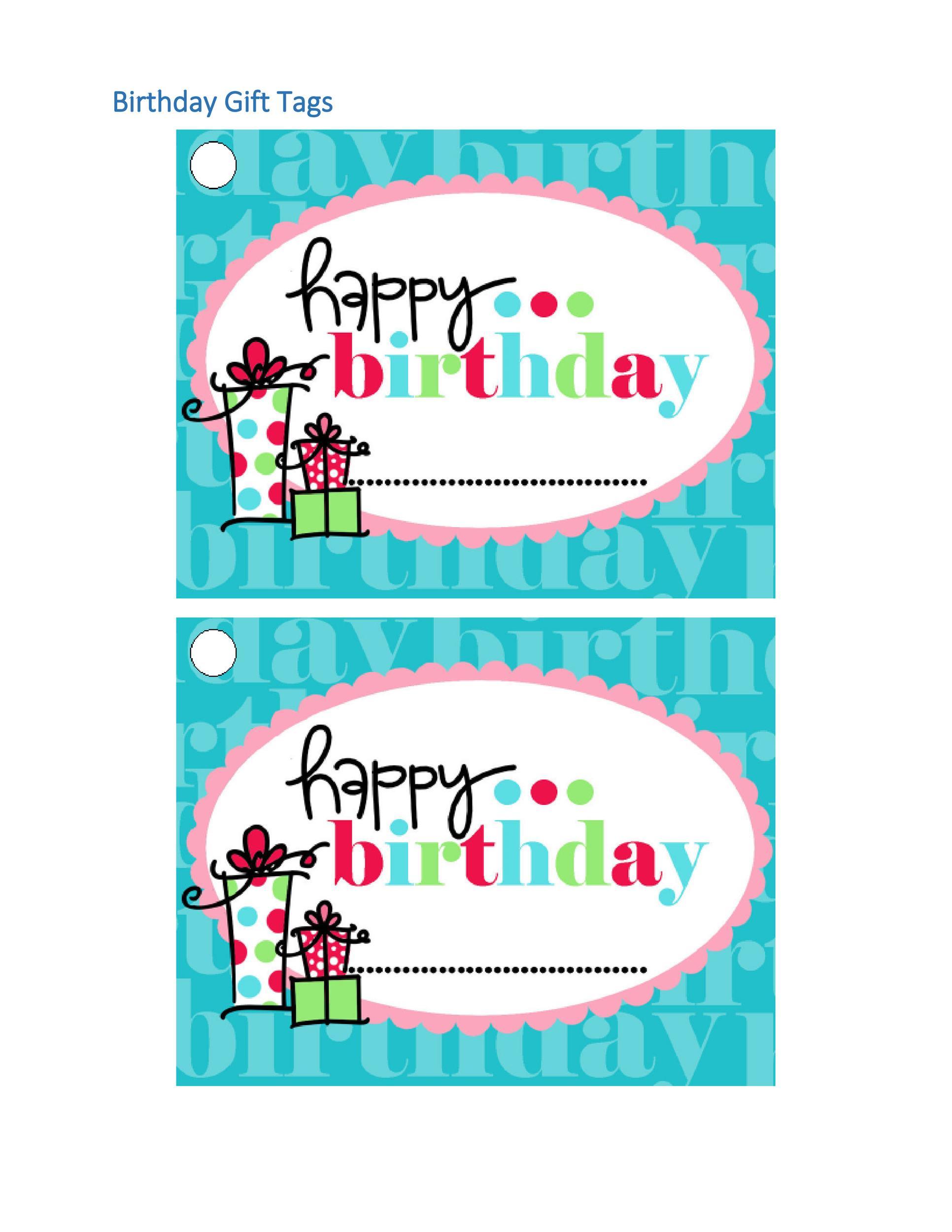 44 Free Printable Gift Tag Templates Template Lab