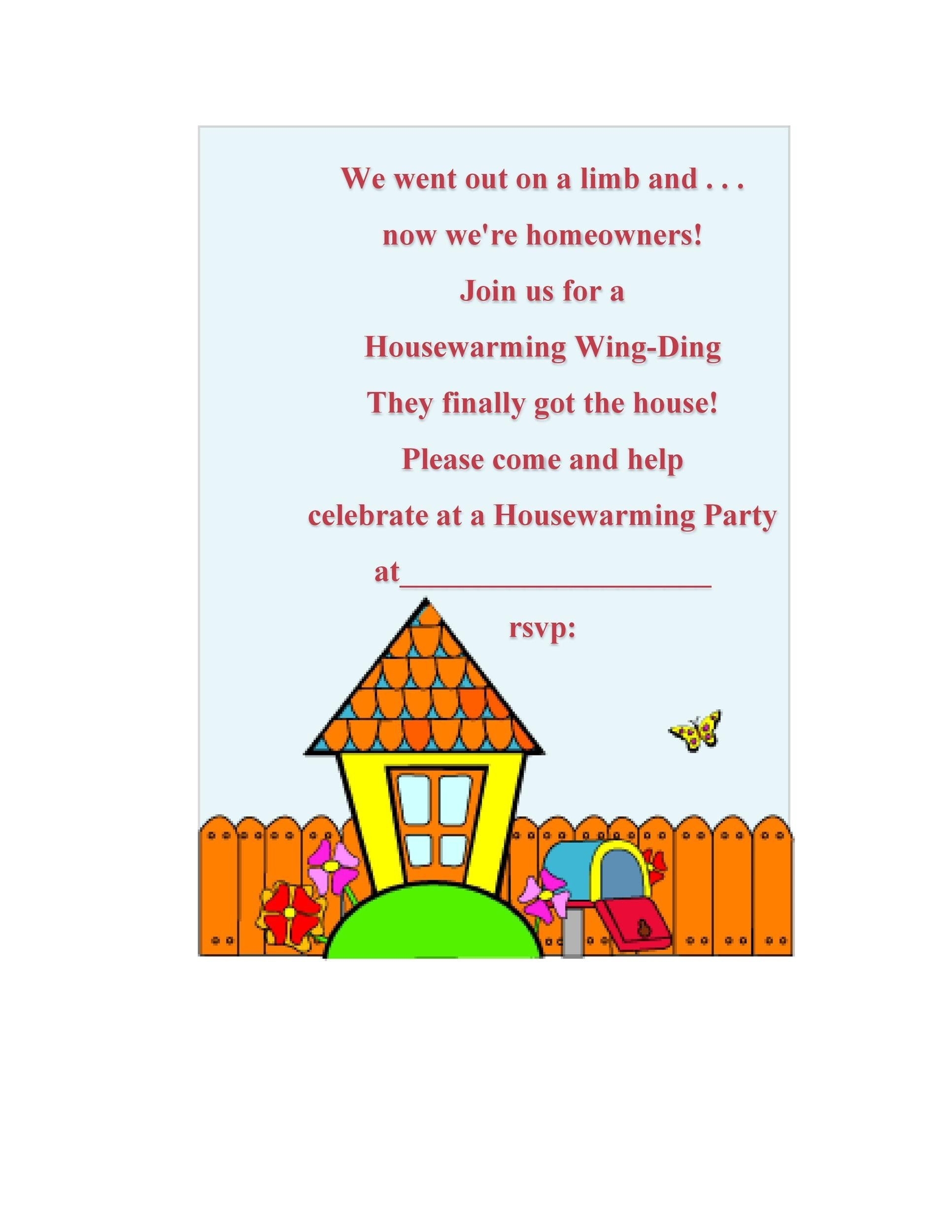 40 Free Printable Housewarming Party Invitation Templatesfree