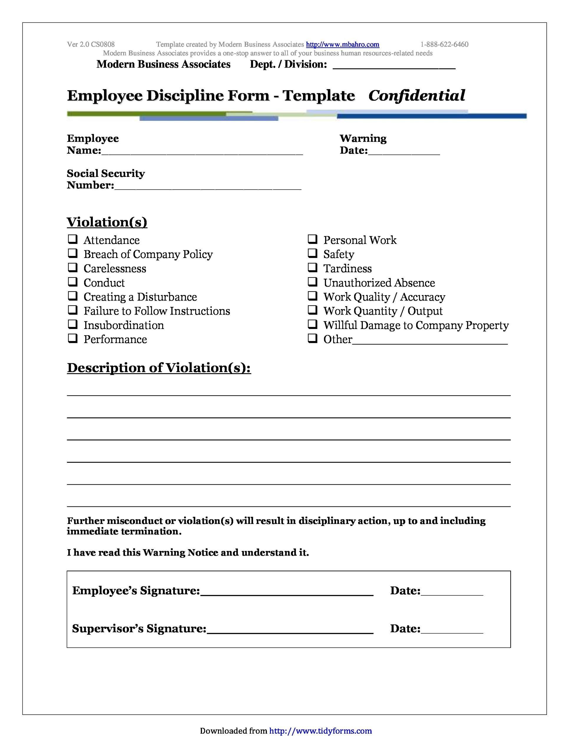 insubordination write up template