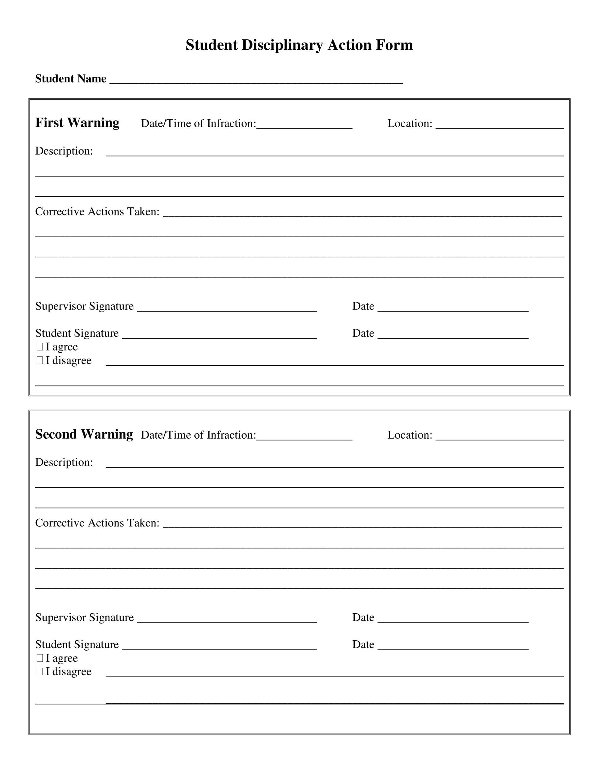 11 types of disciplinary action form. Free Employee Write Up Printable 40 Qllavy