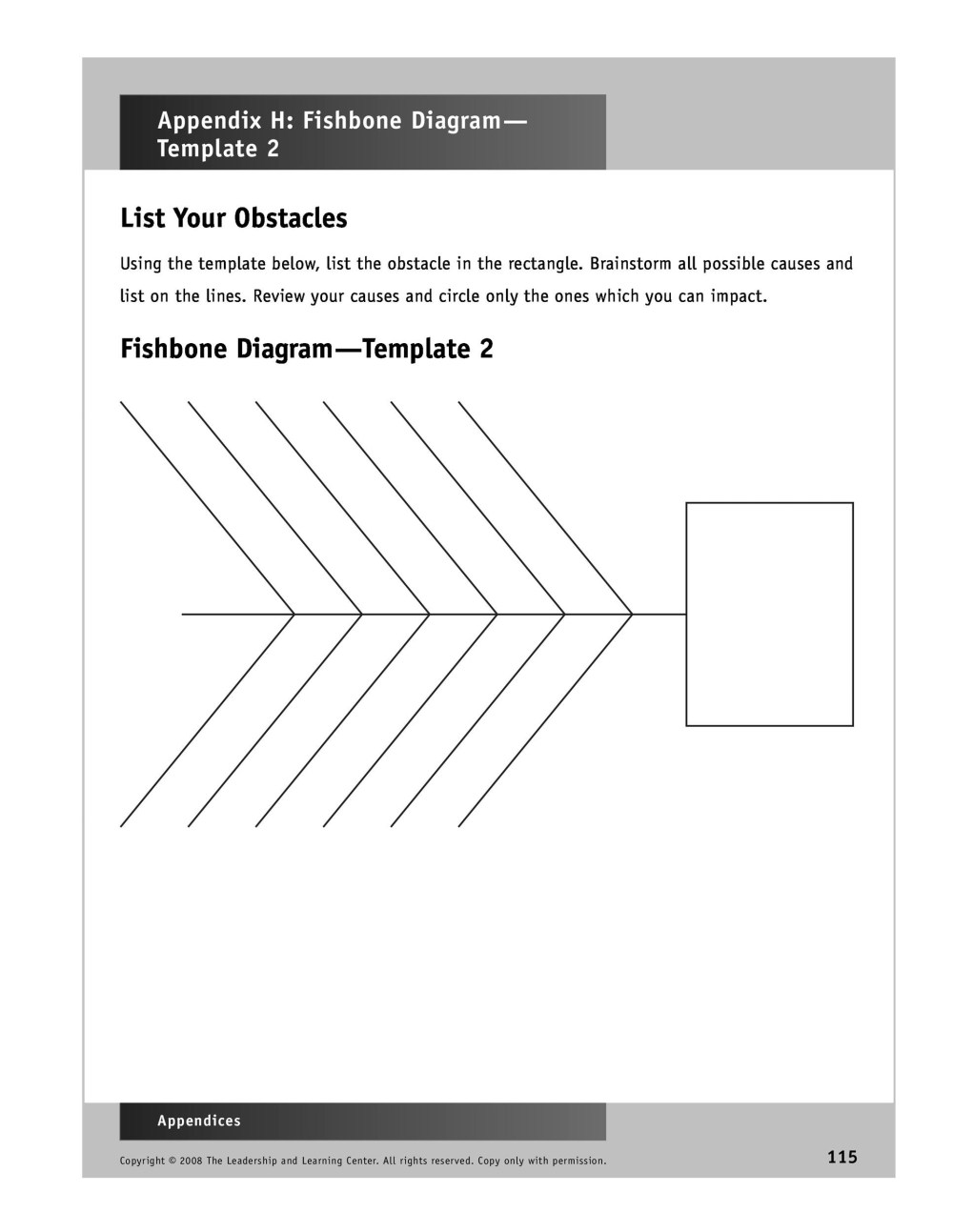 medium resolution of free fishbone diagram template 42