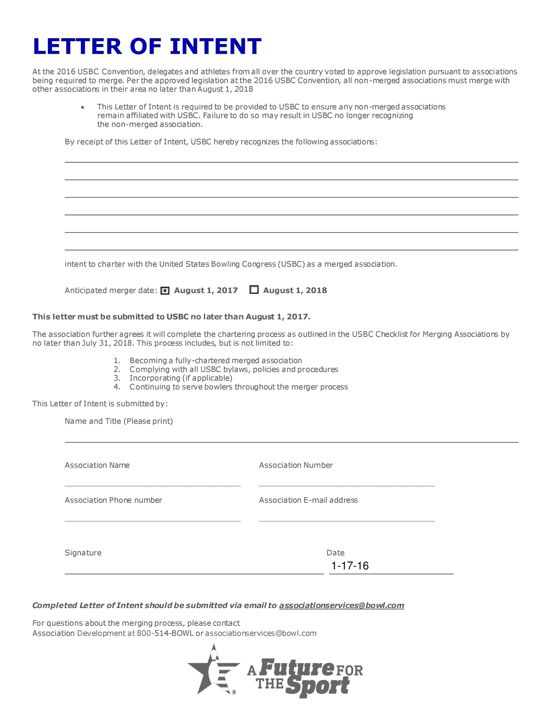 40+ Letter of Intent Templates & Samples [for Job, School, Business]