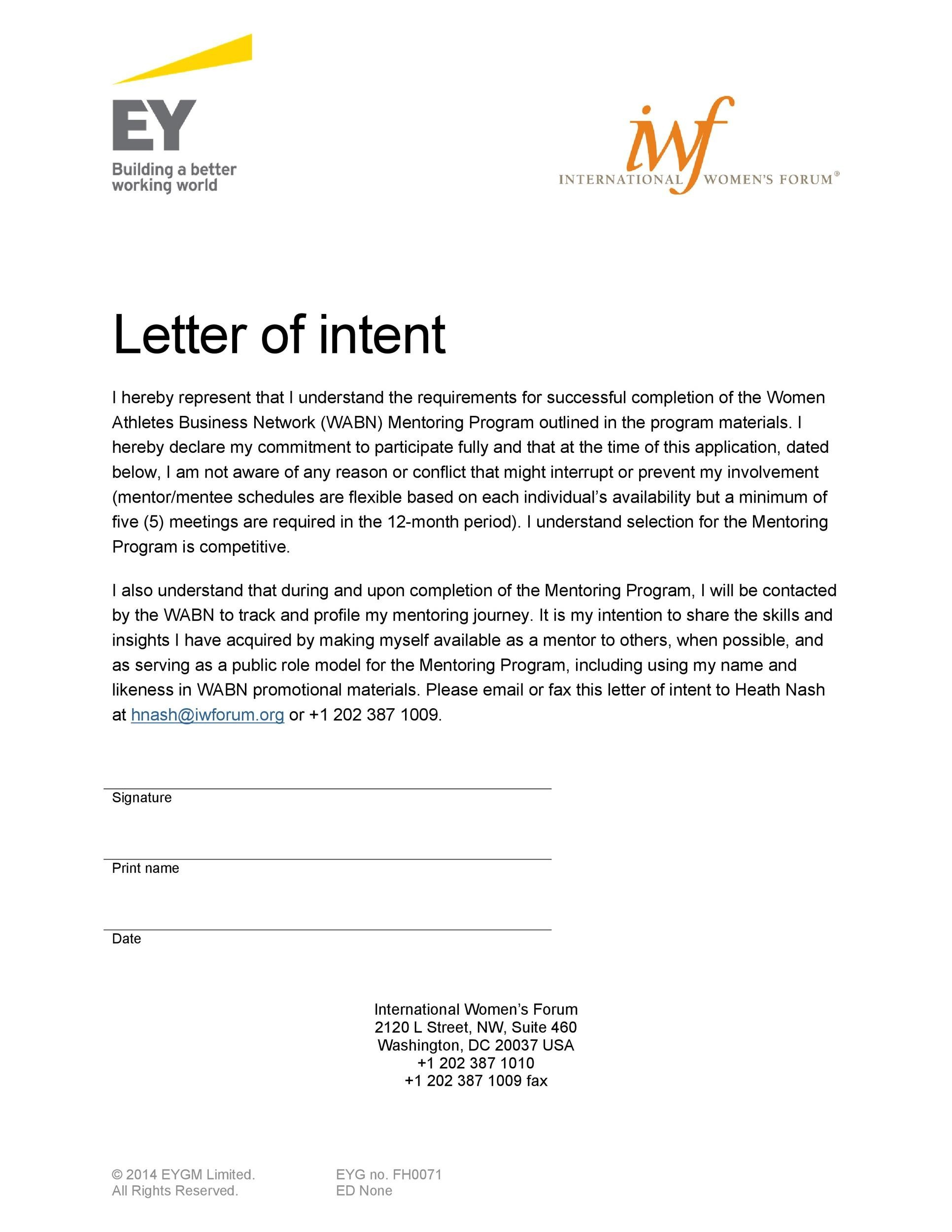 40+ Letter Of Intent Templates & Samples [for Job, School