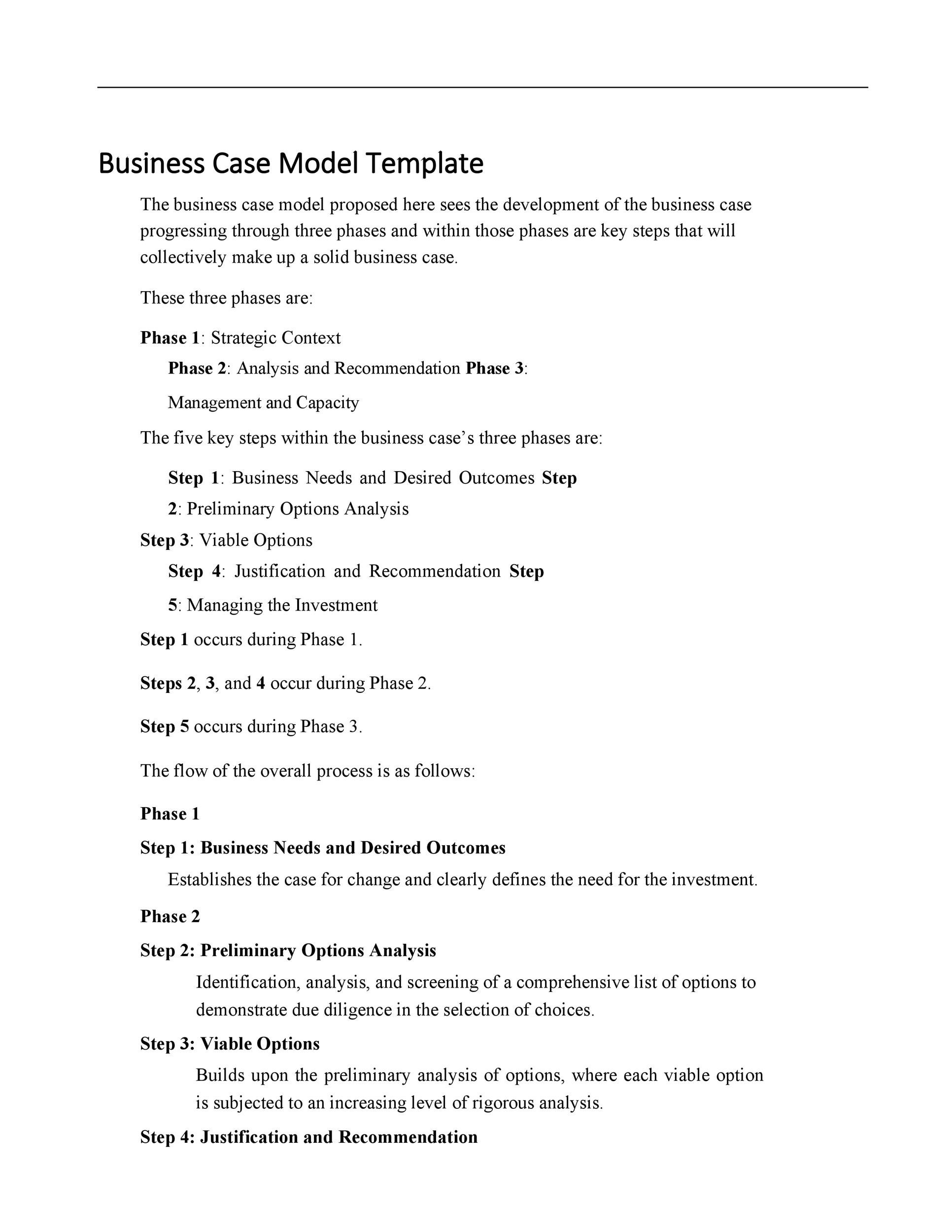 30 Simple Business Case Templates Examples ᐅ Templatelab