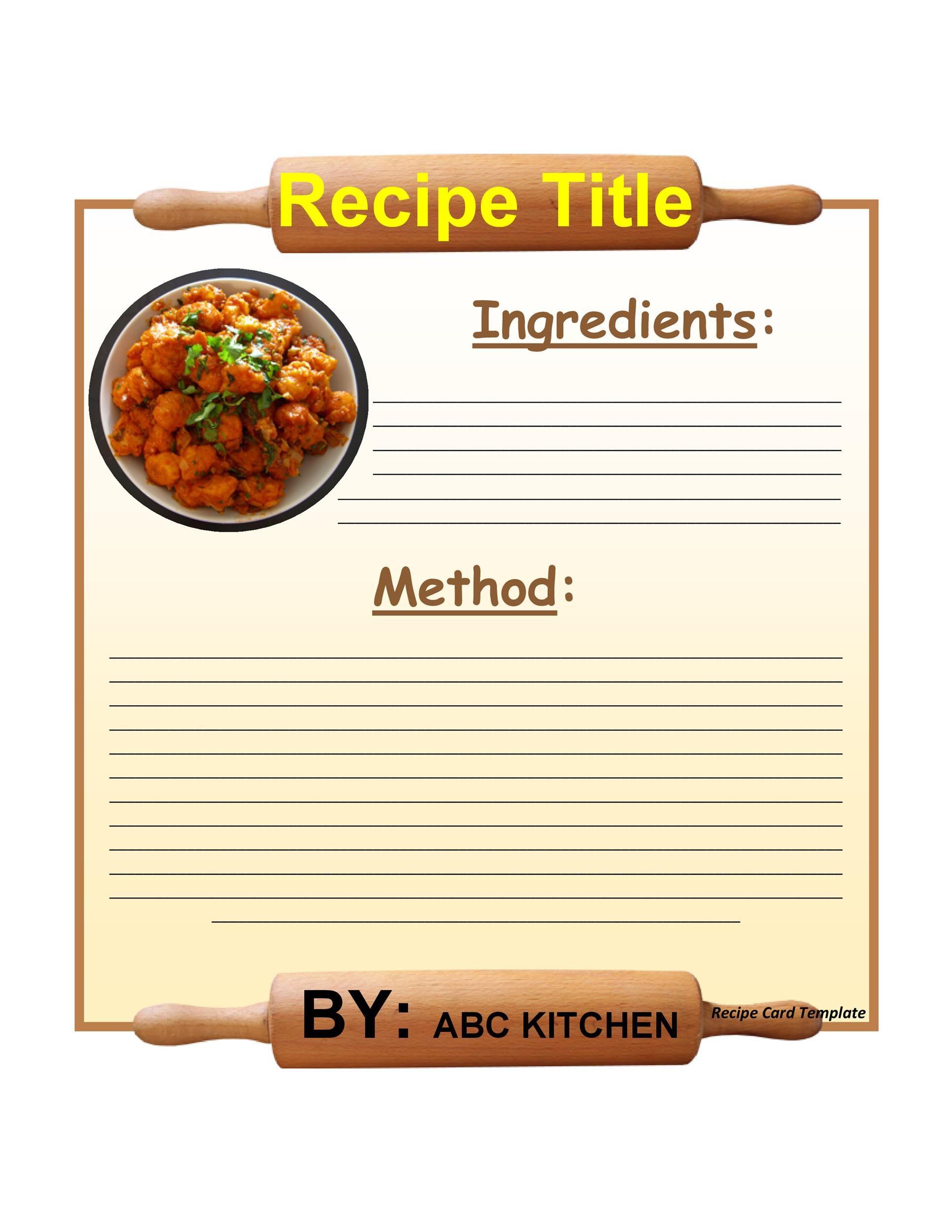 44 perfect cookbook templates