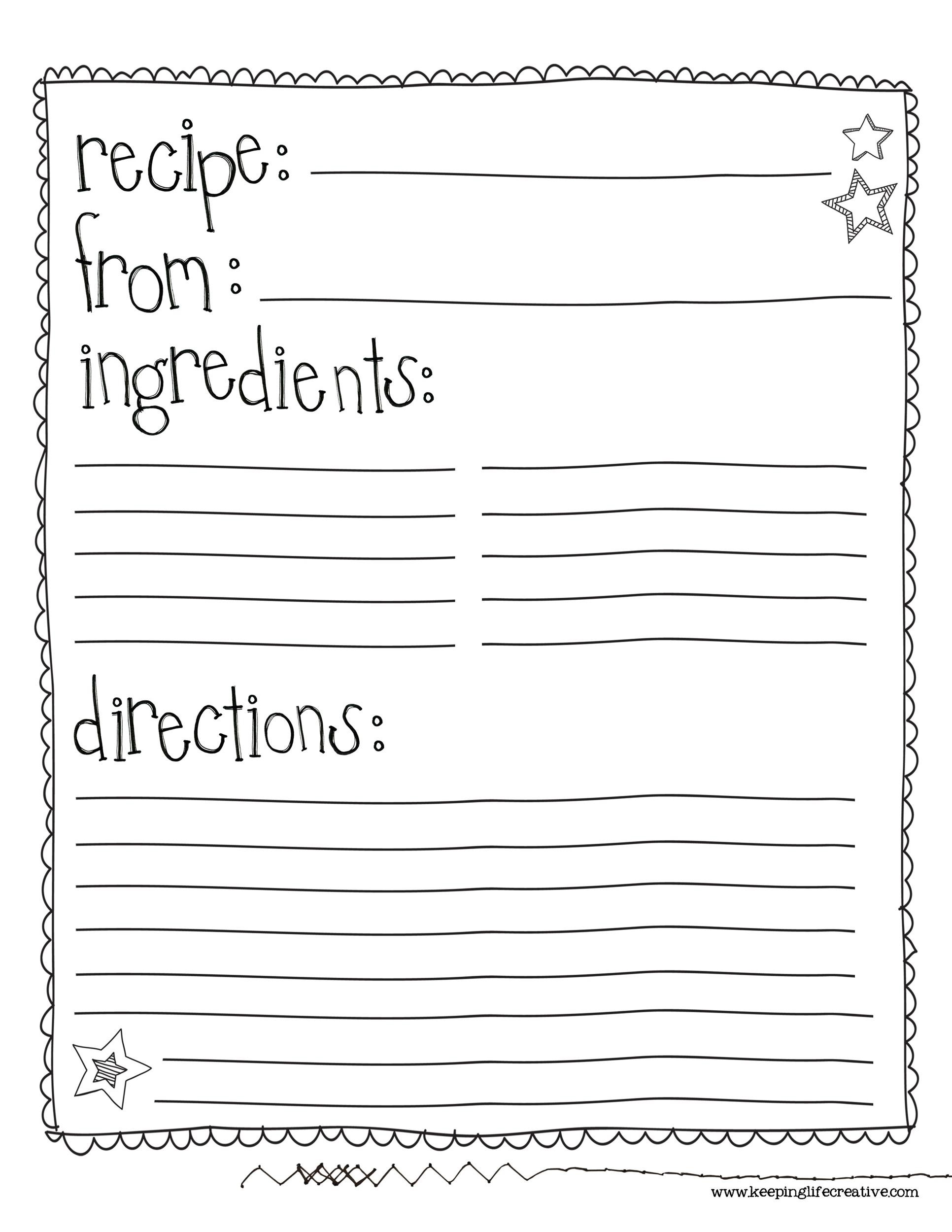 44 Perfect Cookbook Templates Recipe Book Amp Recipe Cards