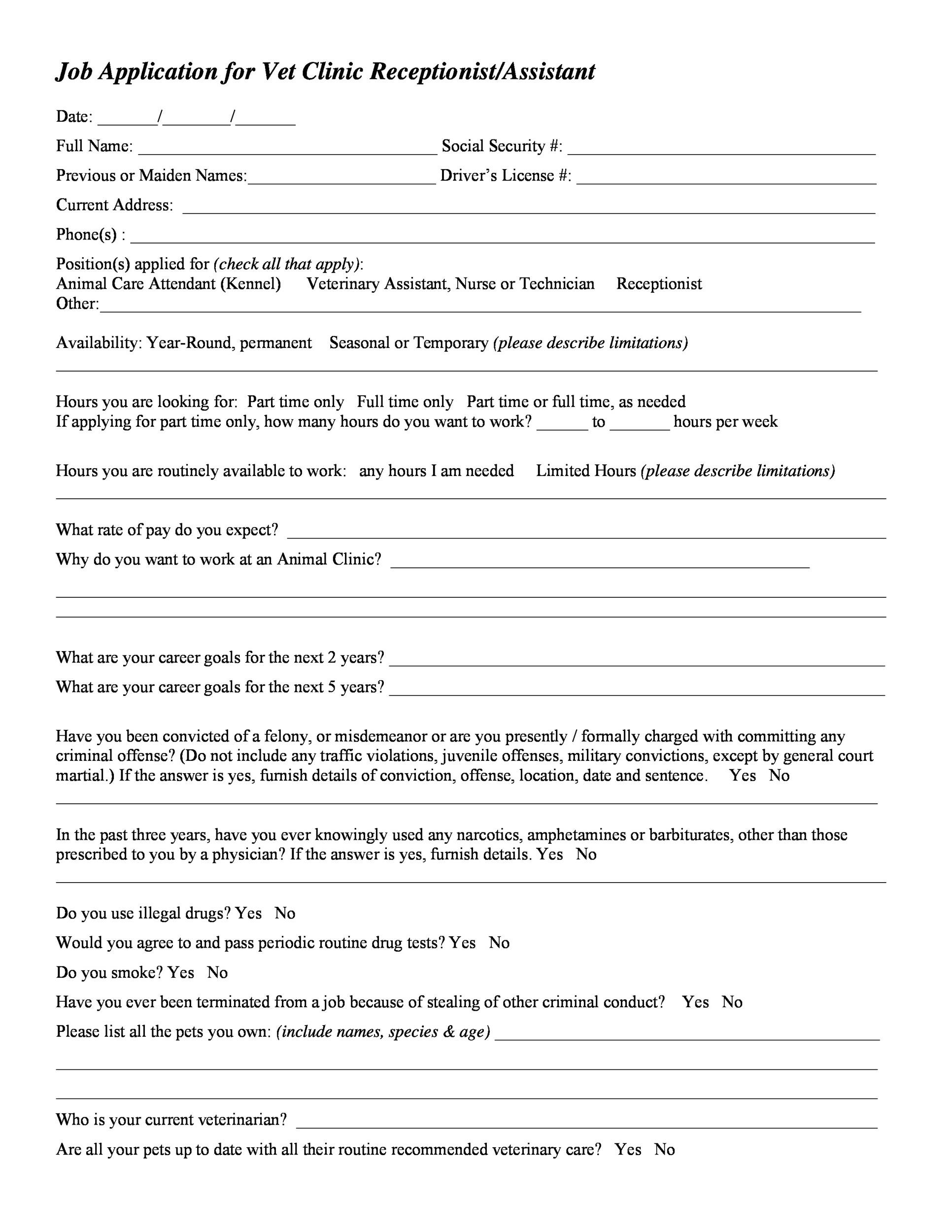 Personal information (1) applicant name. 50 Free Employment Job Application Form Templates Printable Á… Templatelab
