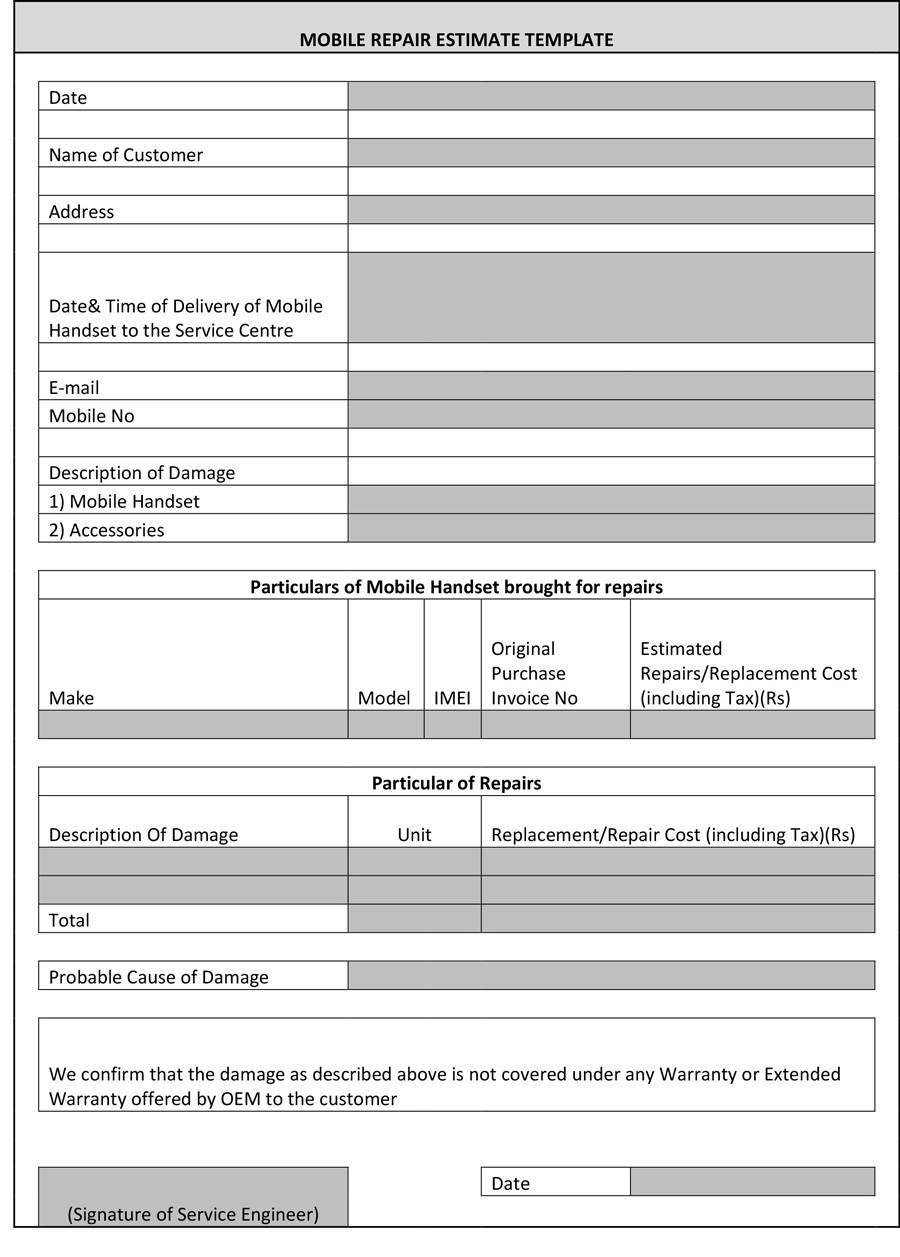 hight resolution of free estimate template 36