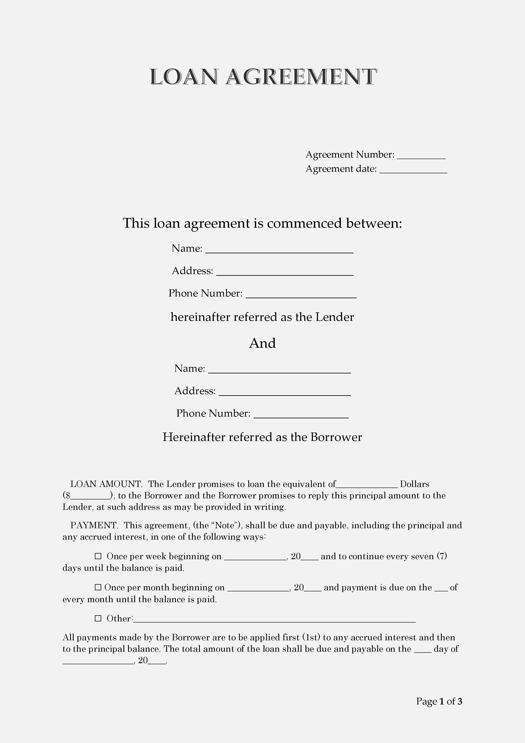 Of course, financing options are plentiful for vehicle purchases for p. 40 Free Loan Agreement Templates Word Pdf Á… Templatelab