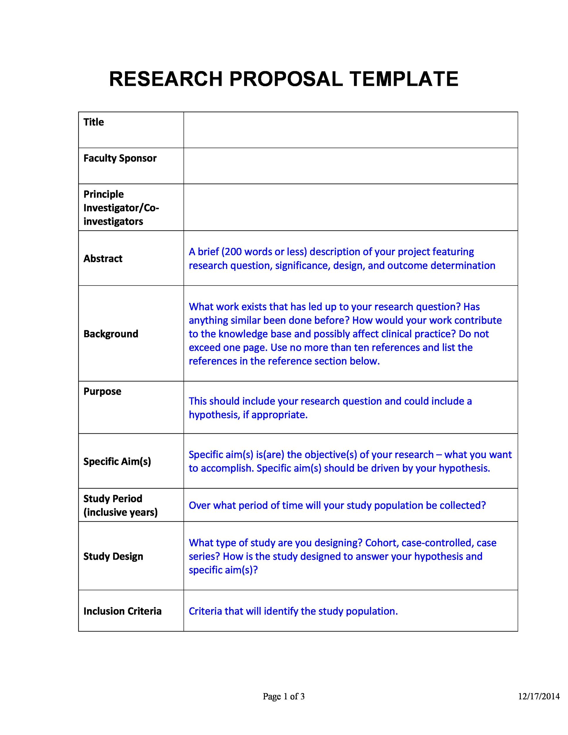 Choose From 40 Research Proposal Templates Amp Examples 100