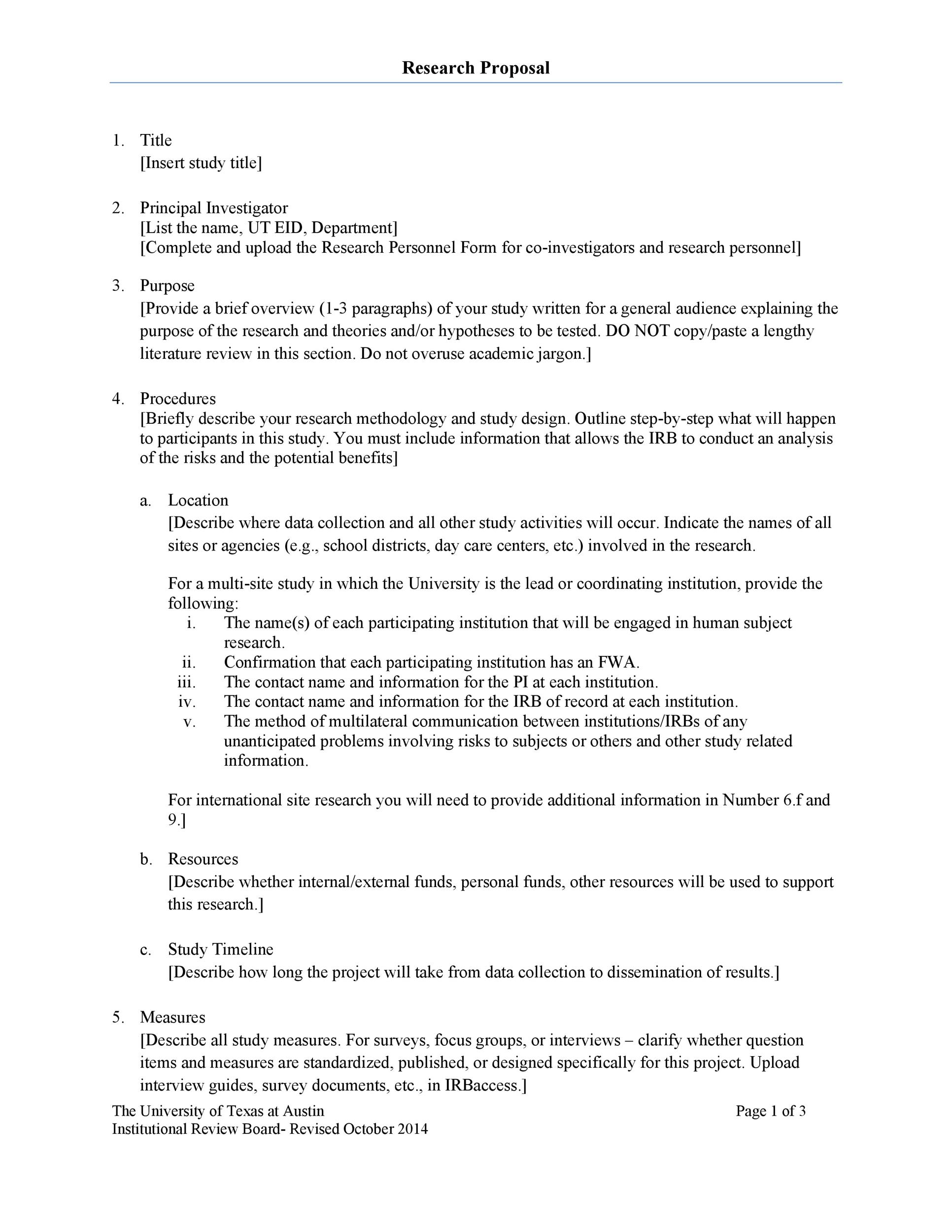 Printable Research Proposal Template 32