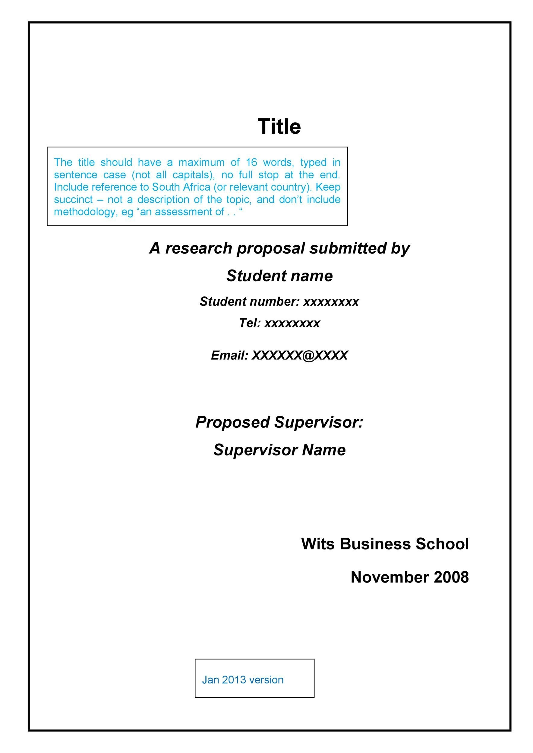 Choose From 40 Research Proposal Templates & Examples 100