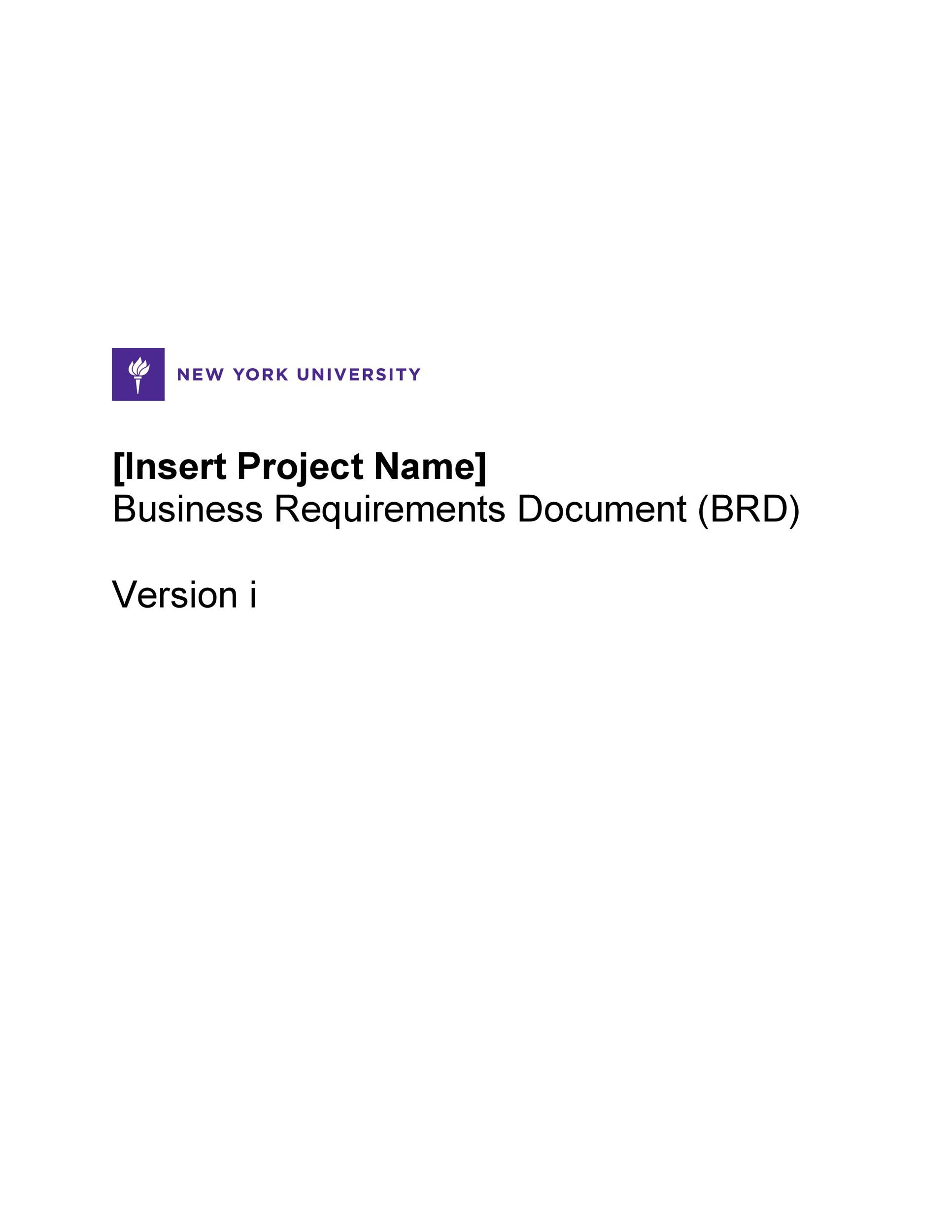 Brd business requirements templates wajeb