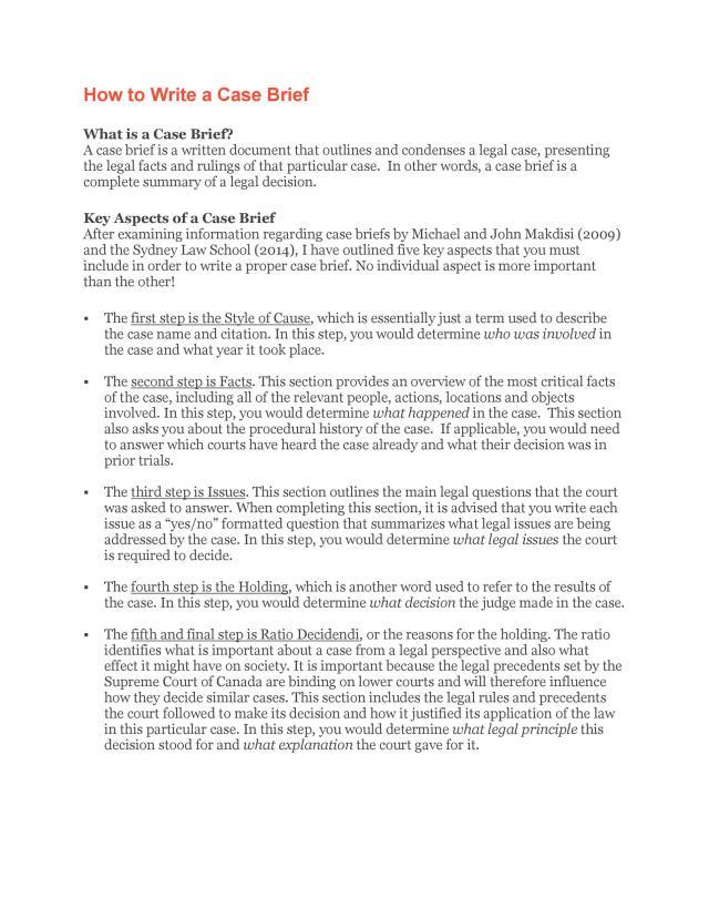 11 Case Brief Examples & Templates ᐅ TemplateLab