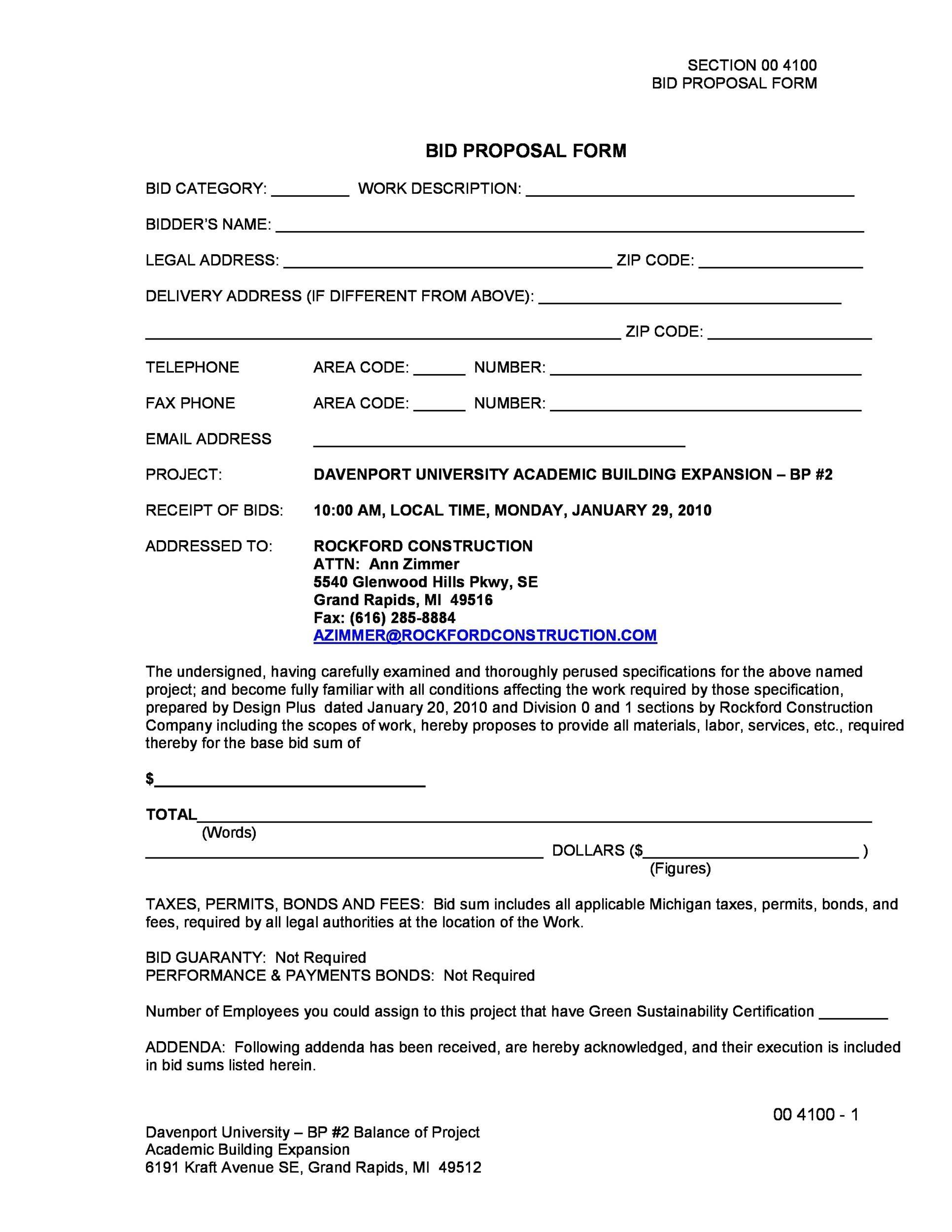 bid form construction - April.onthemarch.co