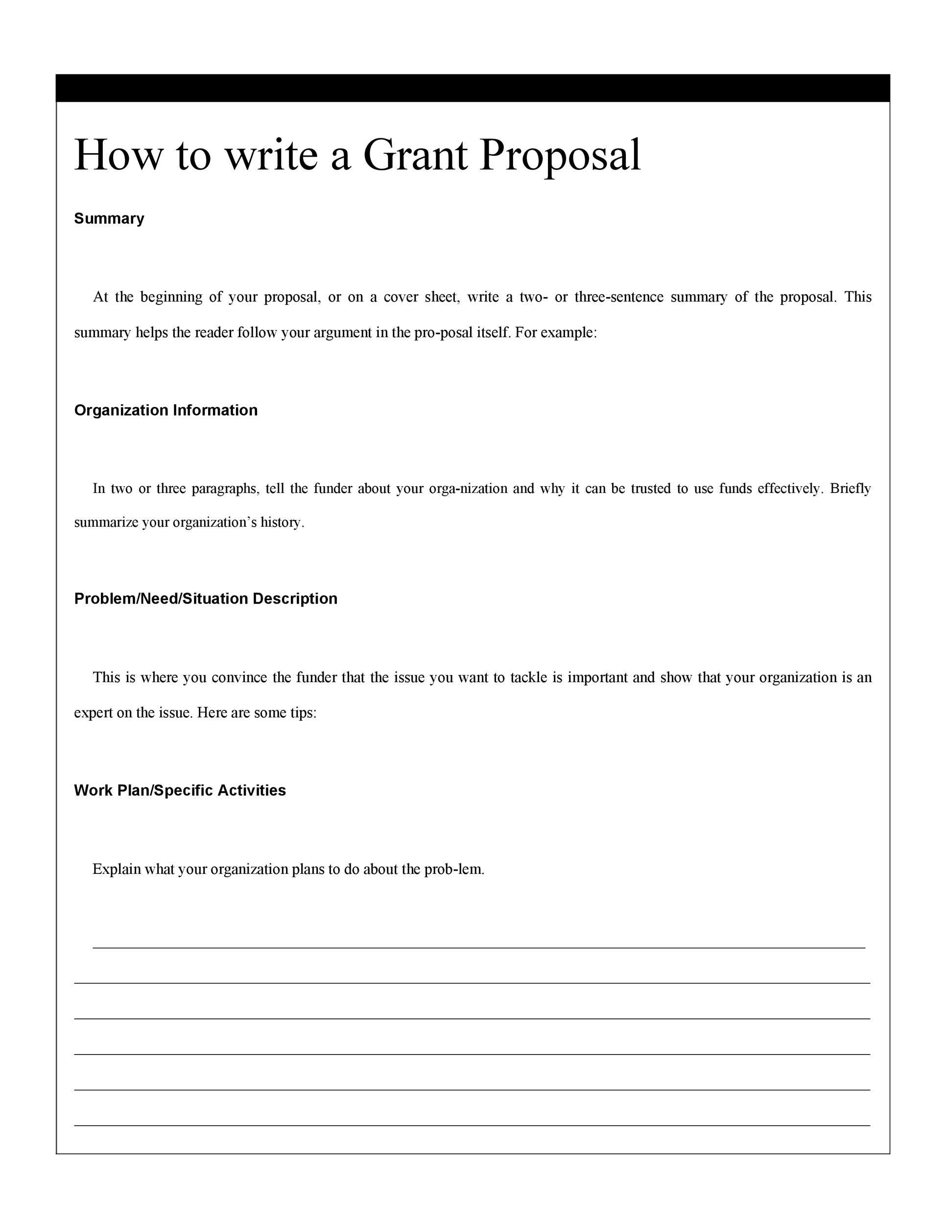 Non Profit Proposal Template   mwb-online co
