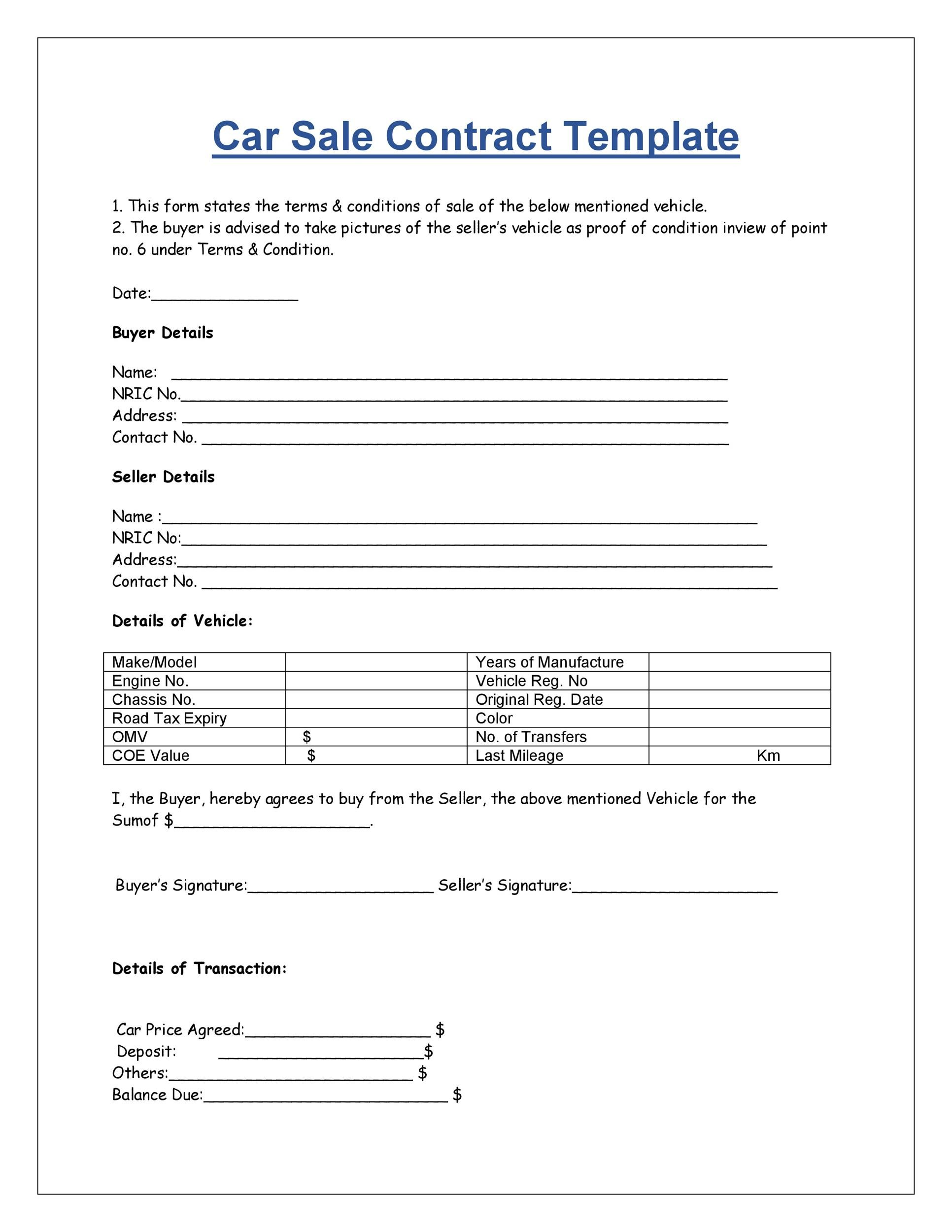 Vehicle Sales Contract With Seller Financing : vehicle, sales, contract, seller, financing, Printable, Vehicle, Purchase, Agreement, Templates, TemplateLab